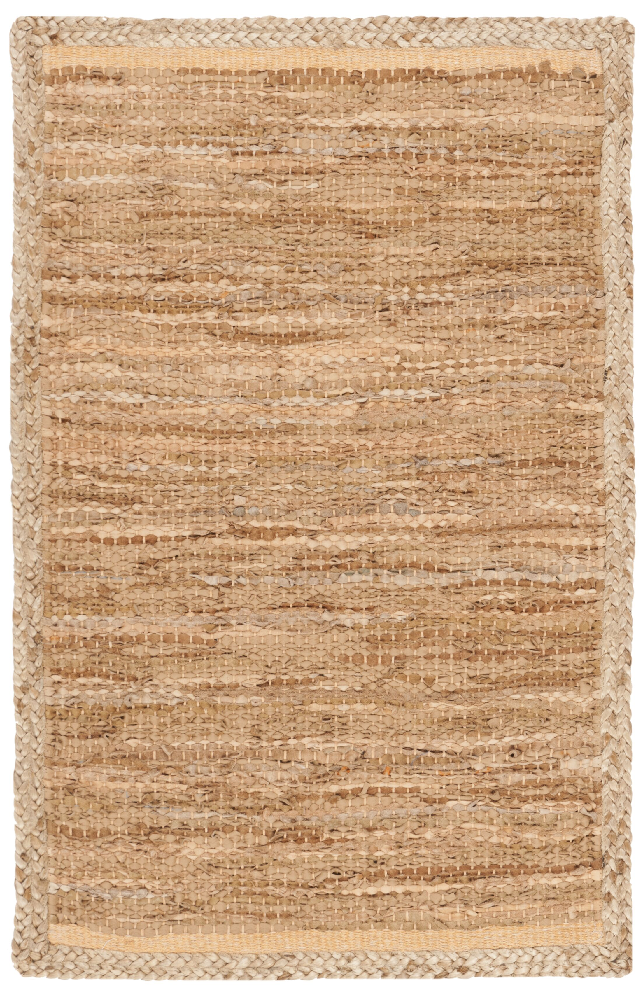 Church Hand-Woven Natural Area Rug Rug Size: Rectangle 4' x 6'