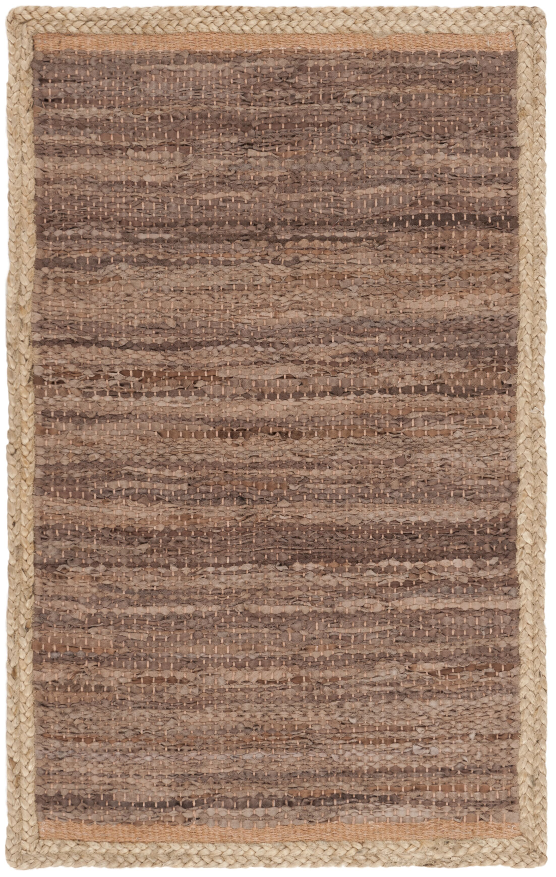 Church Hand-Woven Brown Area Rug Rug Size: Rectangle 2'3