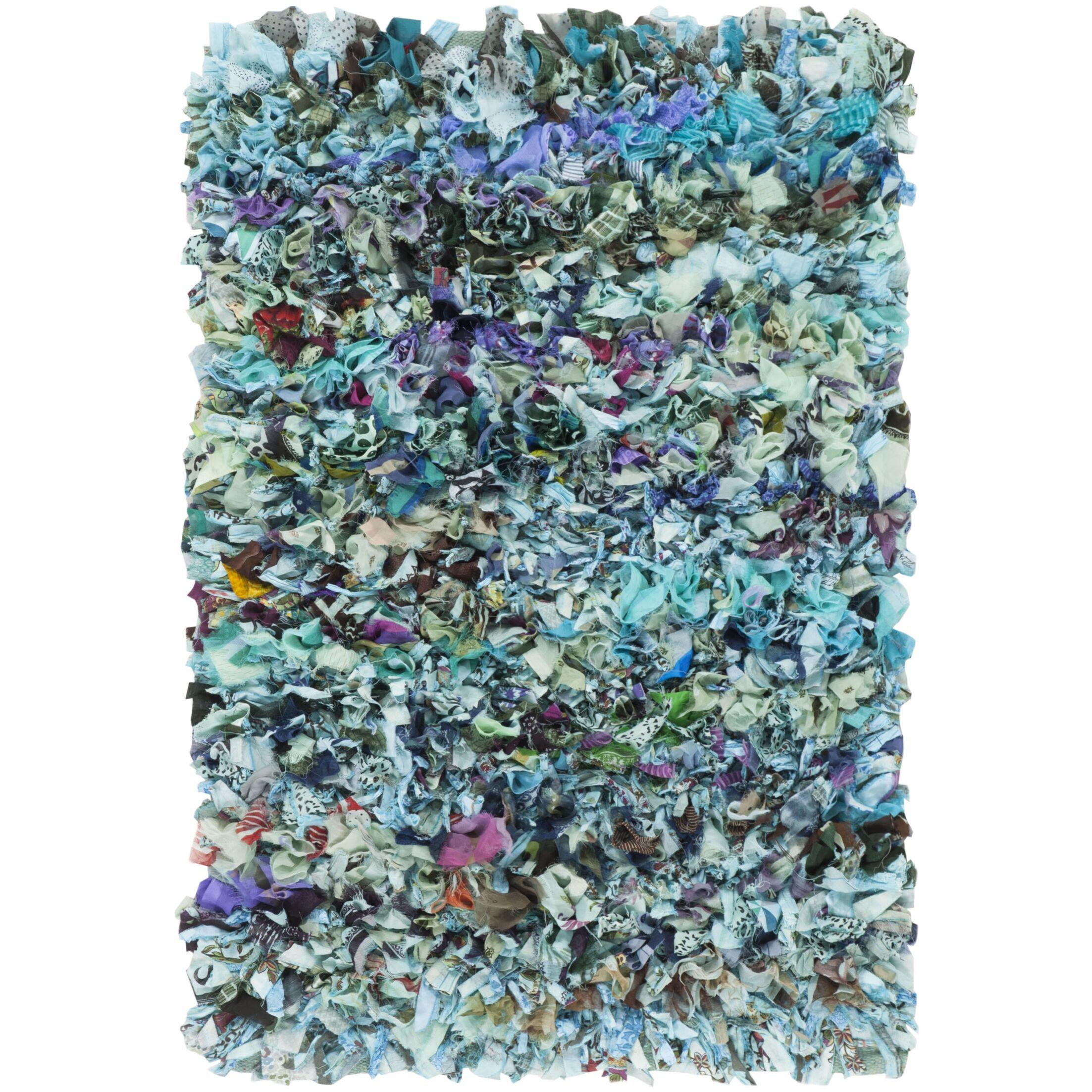 Cudney Shag Hand-Woven Blue Area Rug Rug Size: Rectangle 5' x 8'