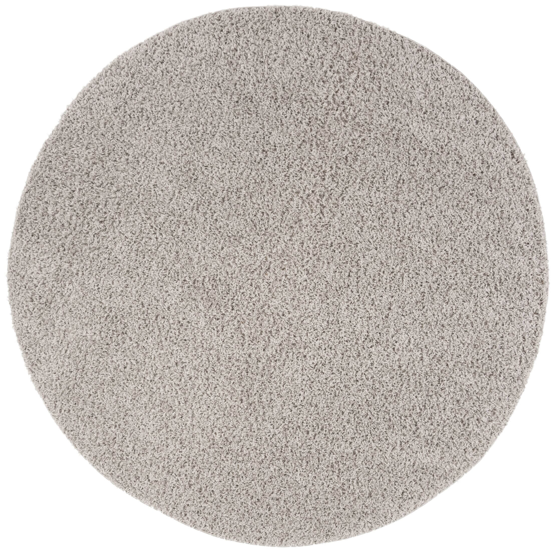 Fornax Shag Silver Area Rug Rug Size: Round 6'7