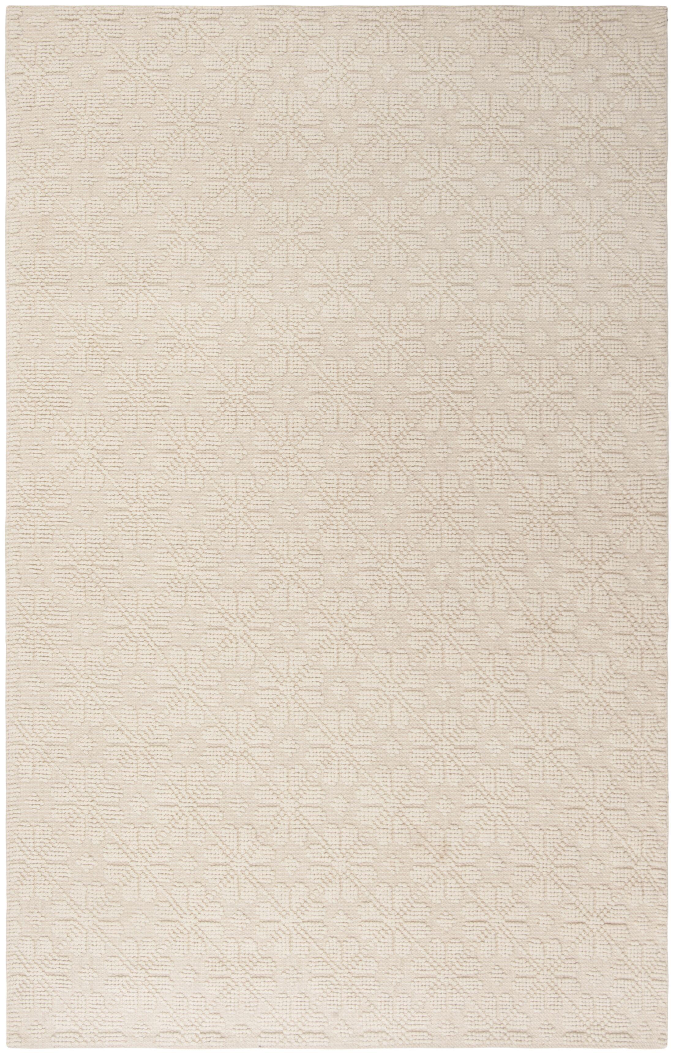 Kelton Hand-Woven Wool Ivory Area Rug Rug Size: Rectangle 2'3