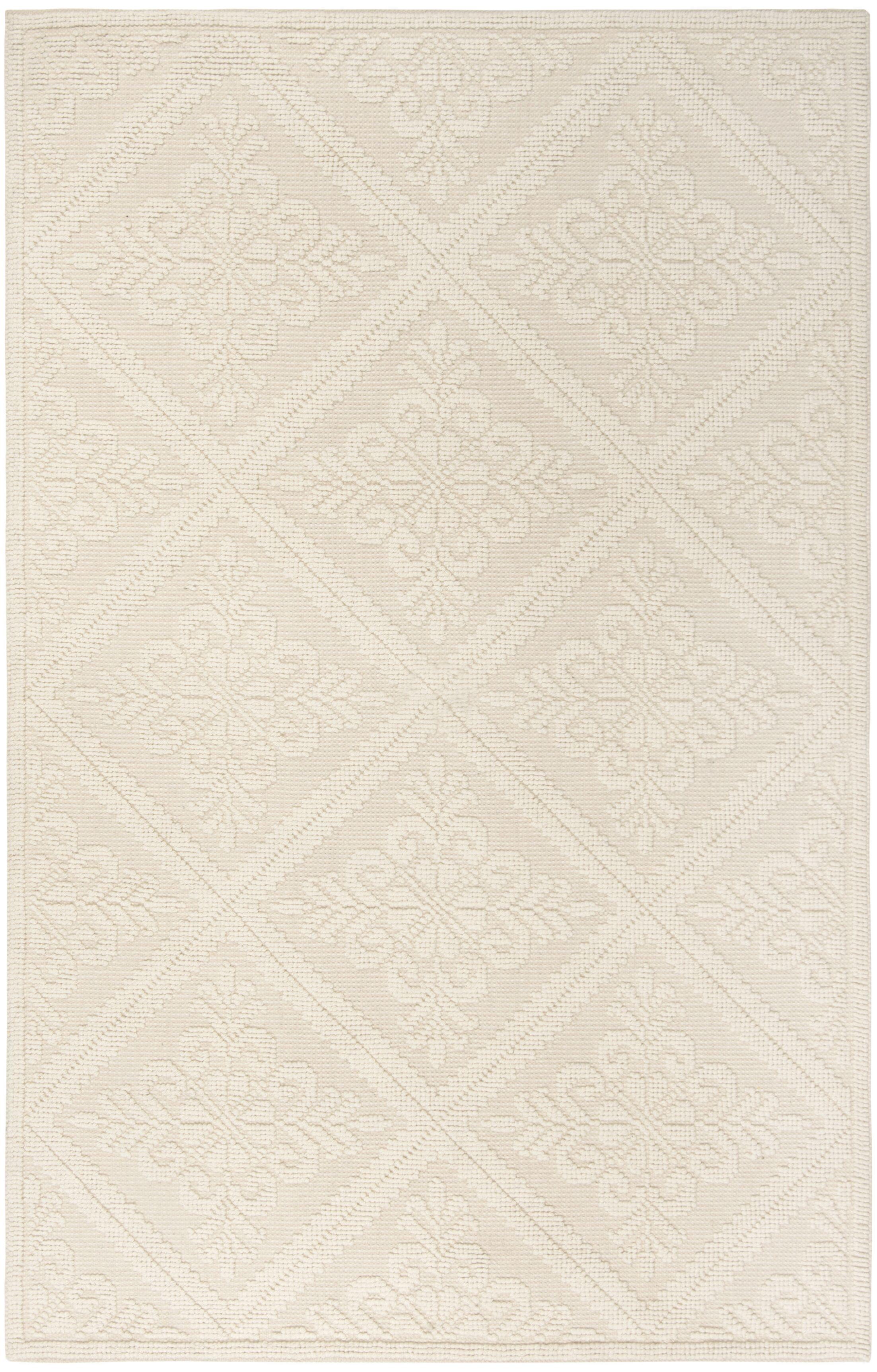 Kelty Hand-Woven Wool Ivory Area Rug Rug Size: Rectangle 6' x 9'