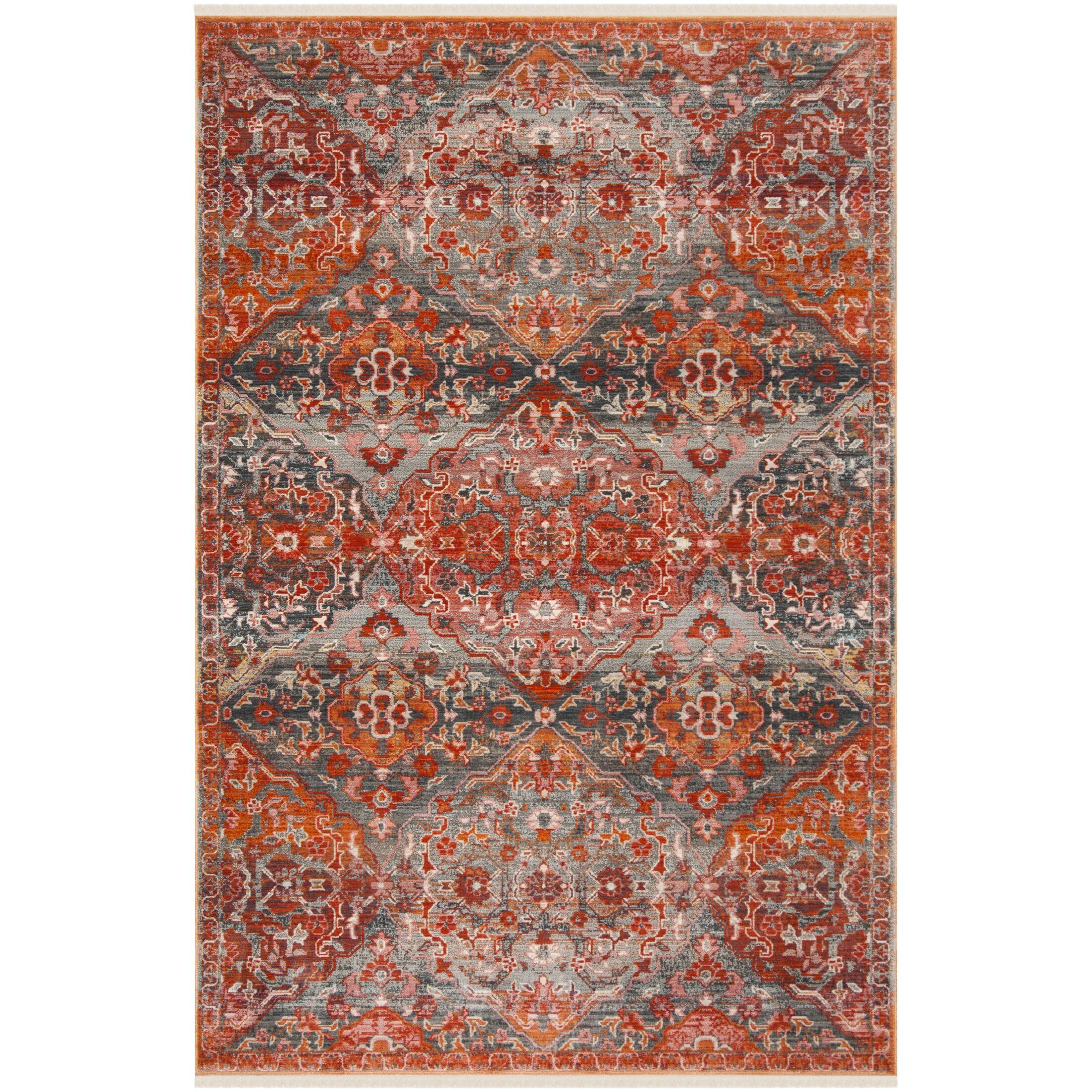 Feldmann Vintage Persian Orange Area Rug Rug Size: Rectangle 4' x 6'