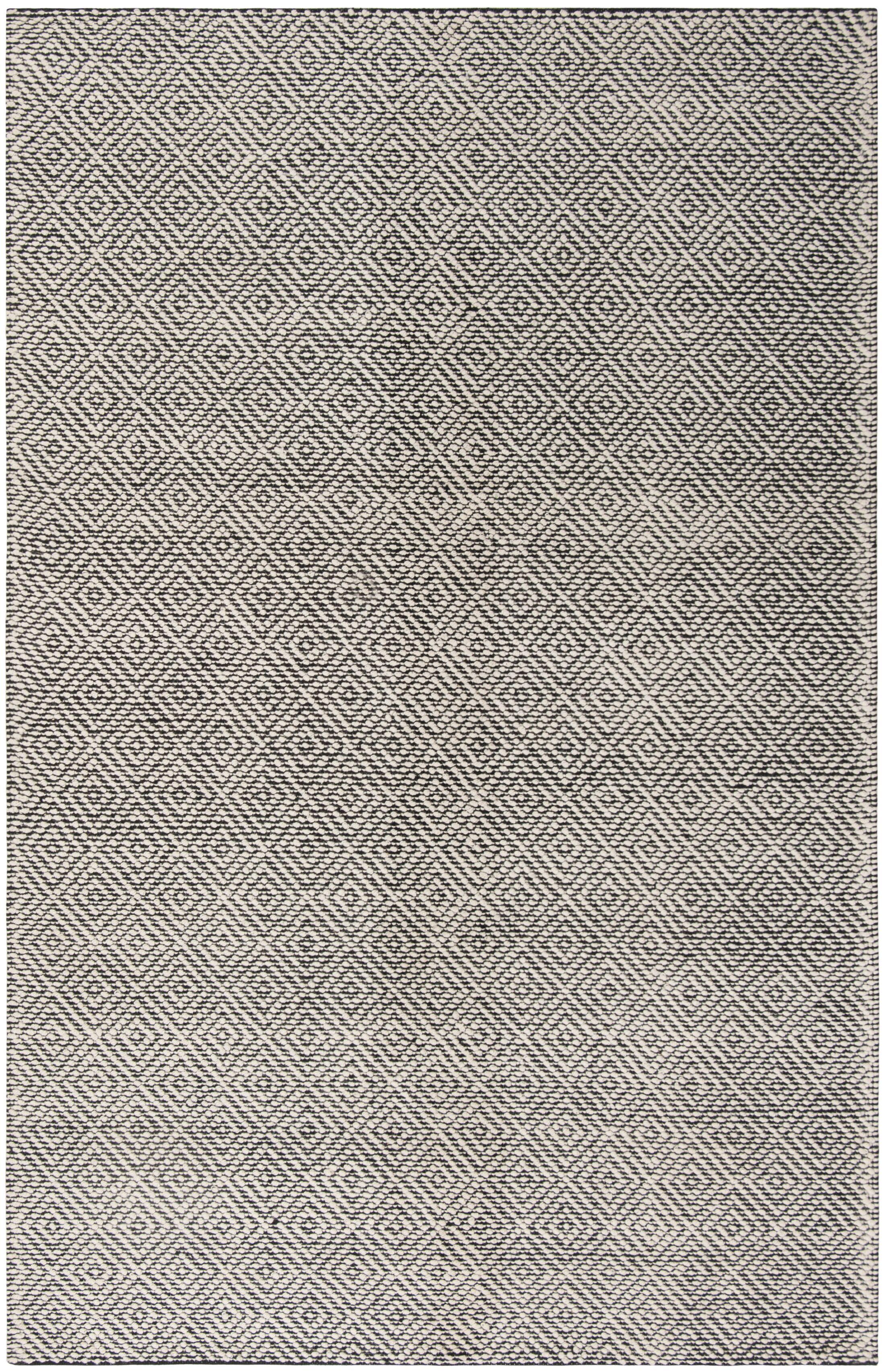Matchett Hand-Woven Wool Ivory/Black Area Rug Rug Size: Rectangle 4' x 6'