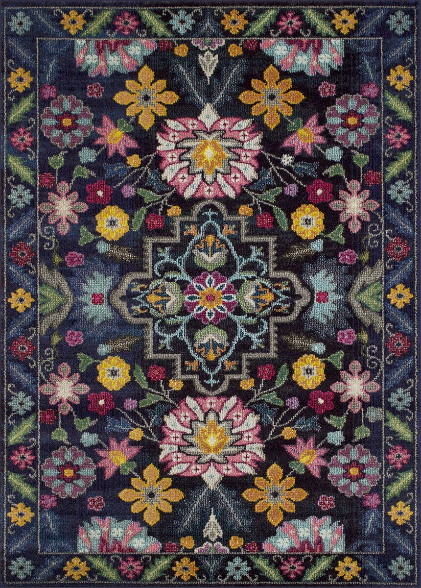 Feldmann Floral Inspired Pink/Yellow Area Rug Rug Size: Rectangle 8' x 10'