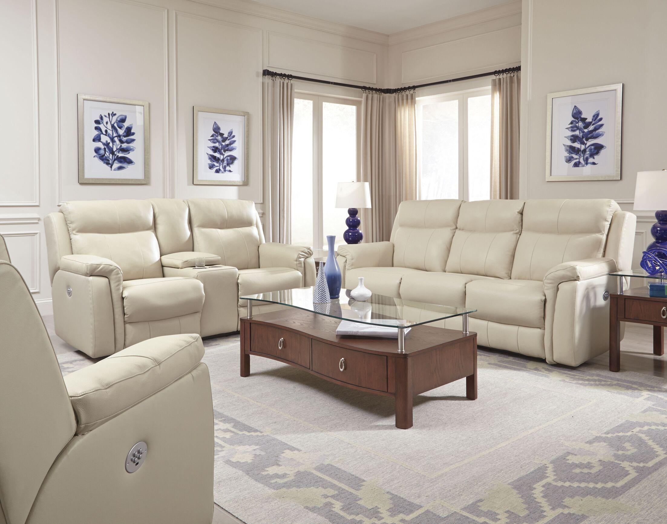 Uptown Reclining Sofa Reclining Type: Manual, Body Fabric: Ambition Cream