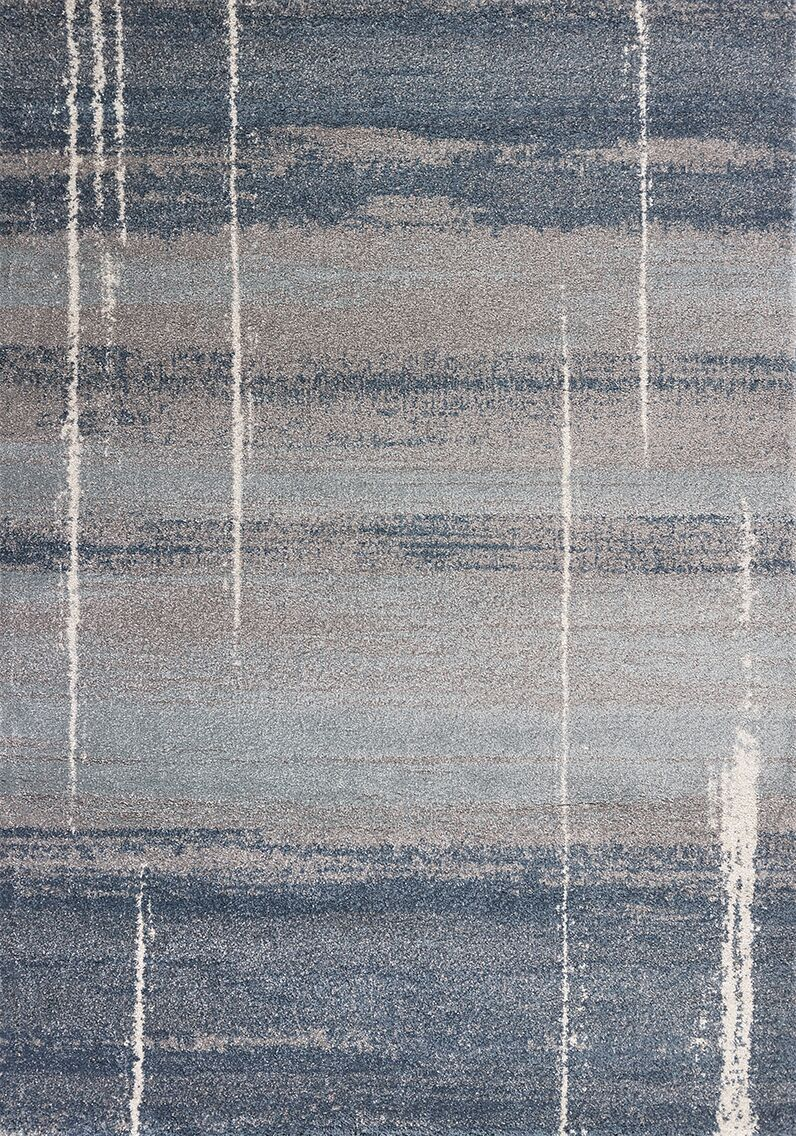 Criswell Blue Area Rug Rug Size: Rectangle 5'3