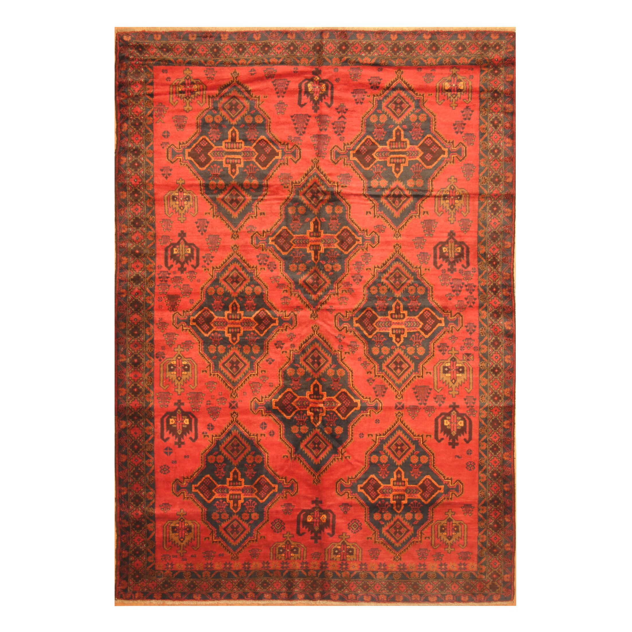 One-of-a-Kind Prentice Hand-Knotted Wool Red Area Rug