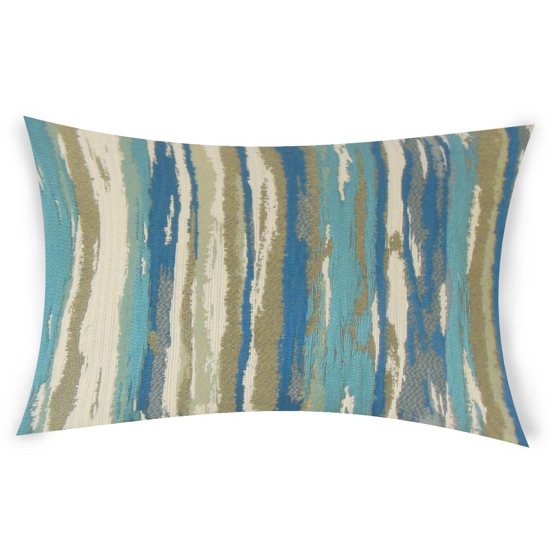 Harpe Lumbar Pillow Color: Blue