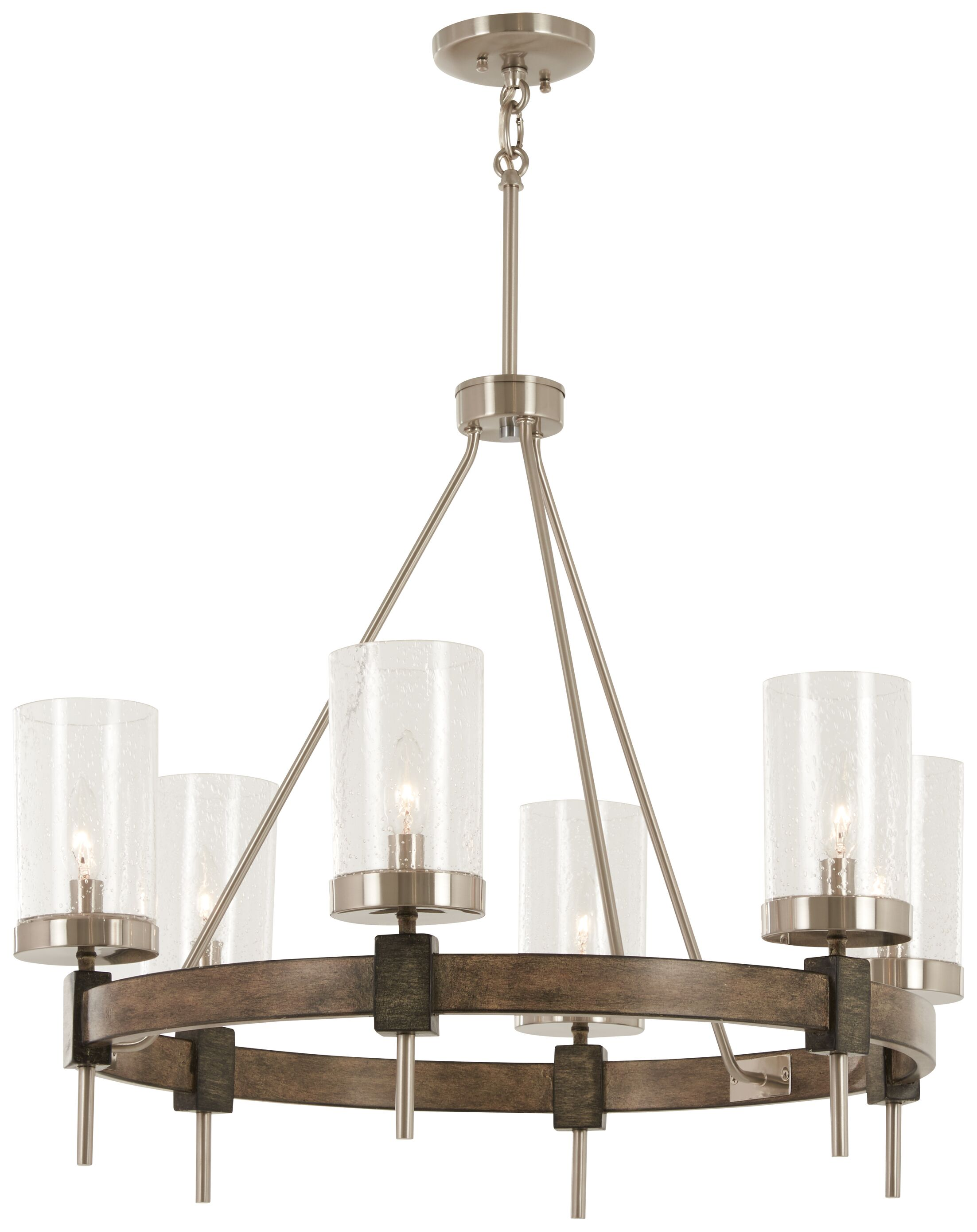 Lipton 6-Light Wagon Wheel Chandelier