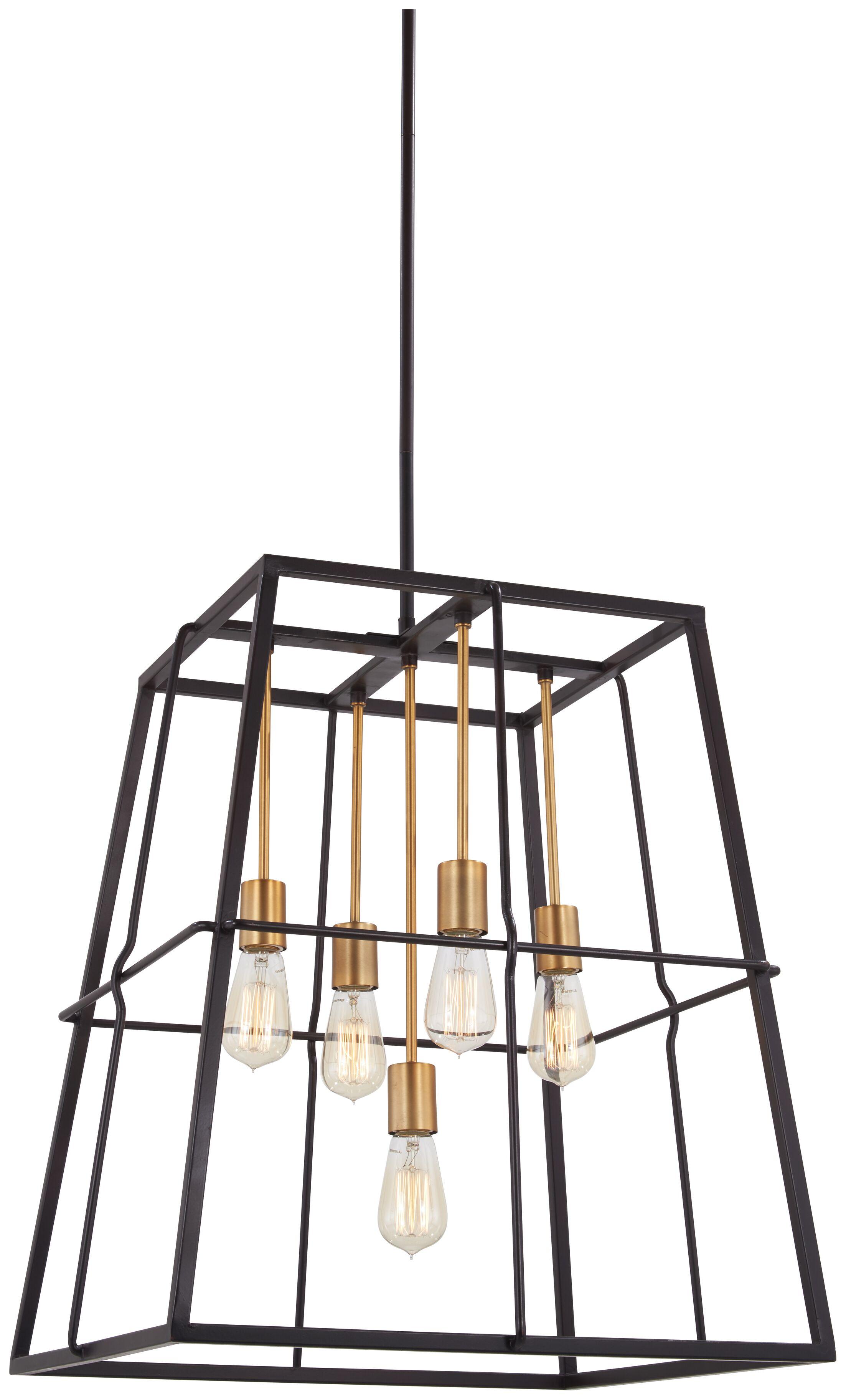 Croyle 5-Light Geometric Chandelier