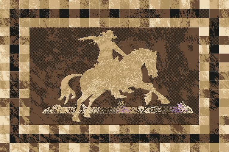 Piatt Wool Brown Area Rug Rug Size: Rectangle 5'3