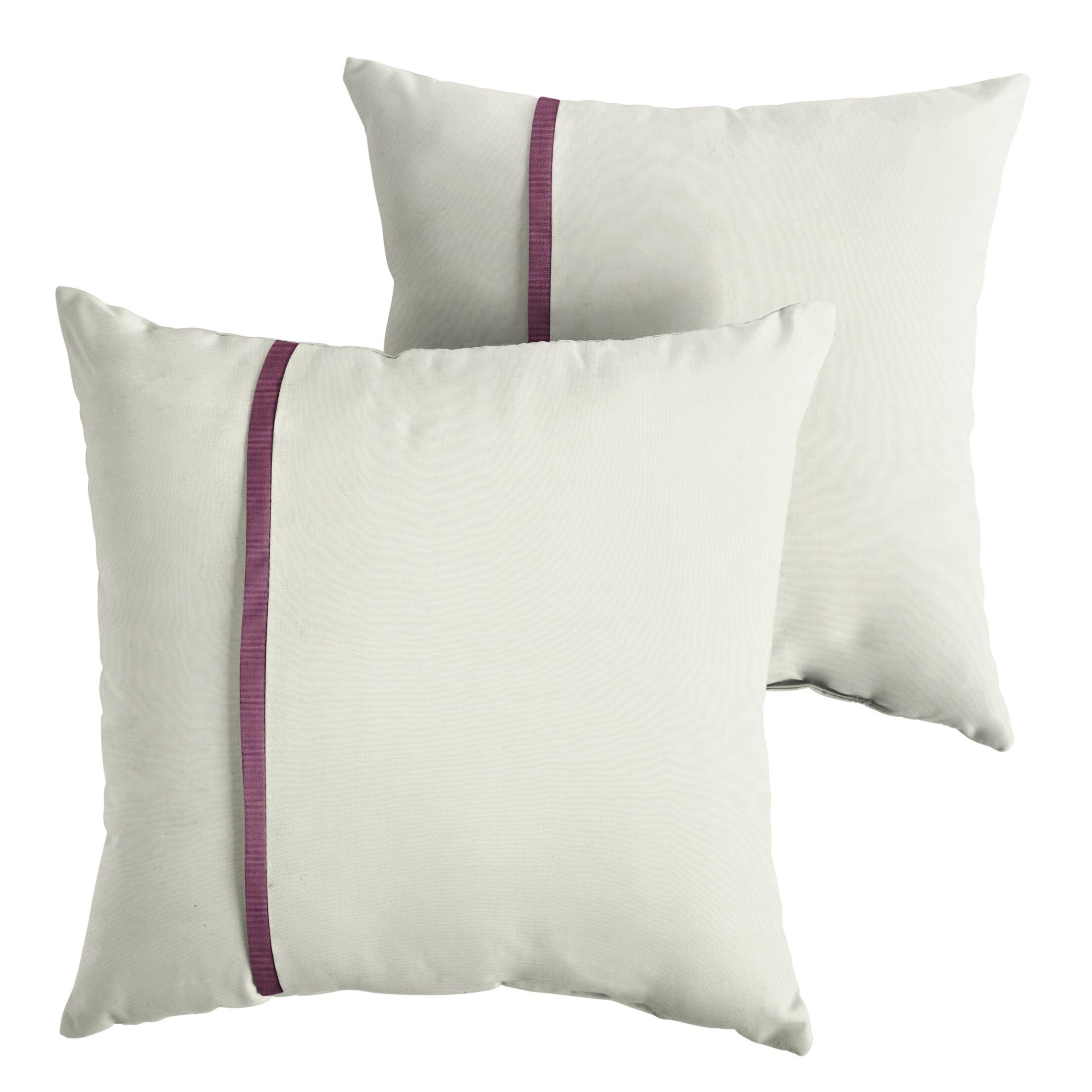 Forsythe Indoor/Outdoor Sunbrella Throw Pillow Size: 18