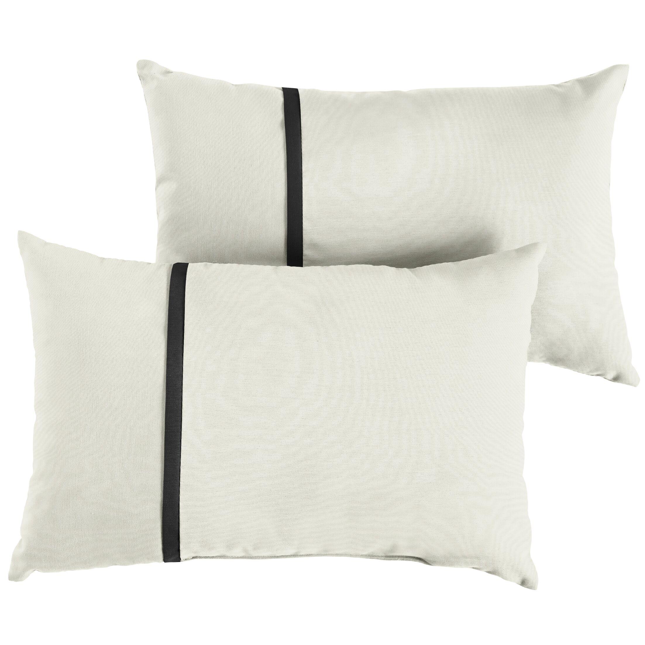 Fort Hamilton Indoor/Outdoor Sunbrella Lumbar Pillow Size: 12