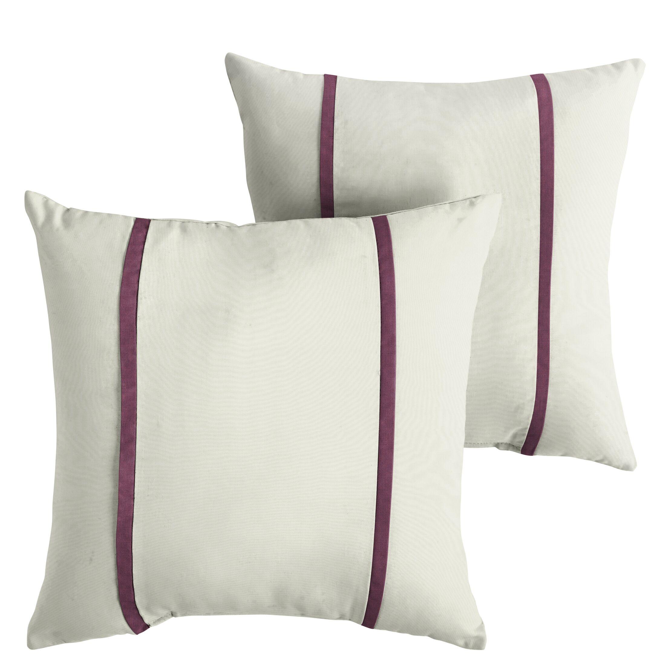 Hollowell Indoor/Outdoor Sunbrella Throw Pillow Size: 22