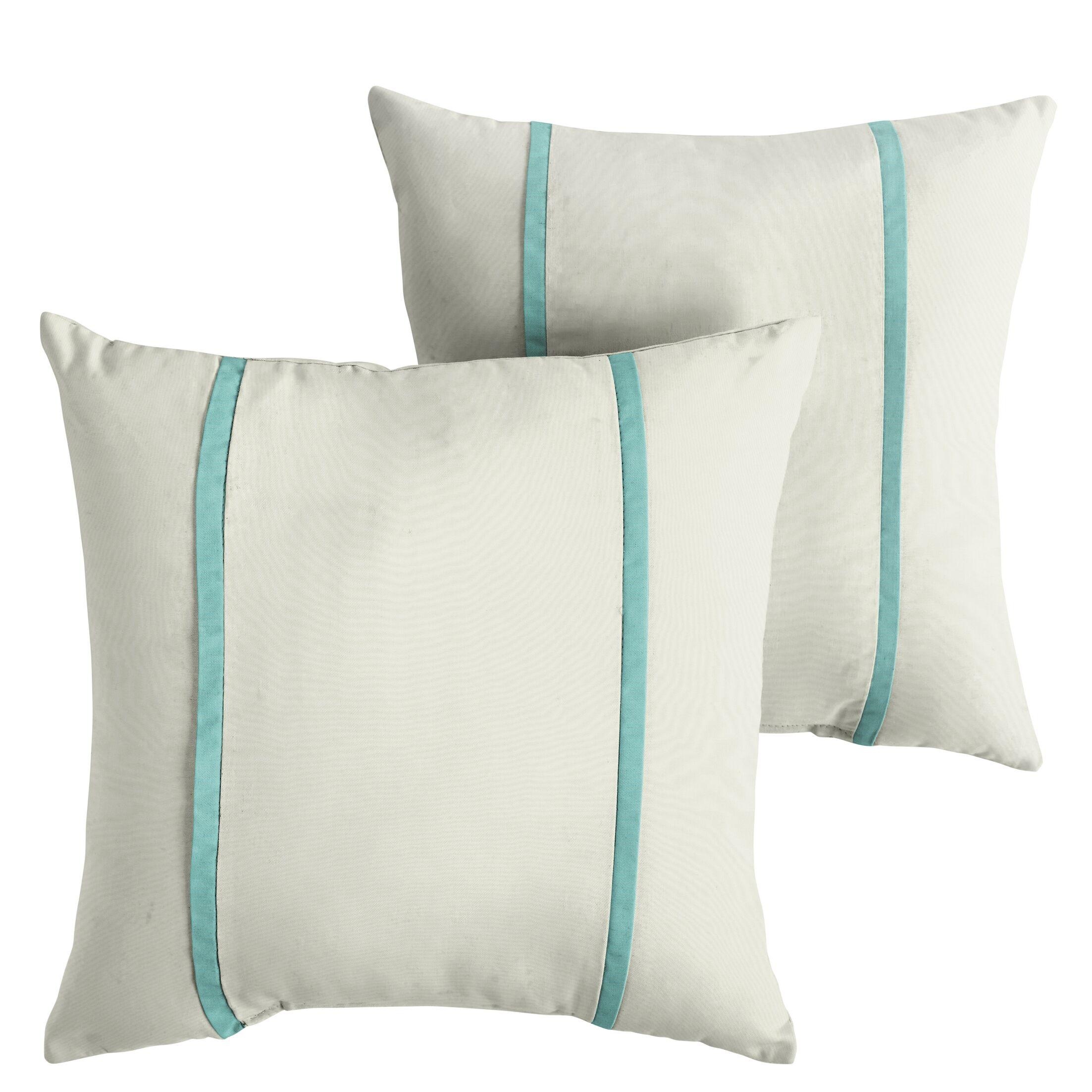 Holmberg Indoor/Outdoor Sunbrella Throw Pillow Size: 22