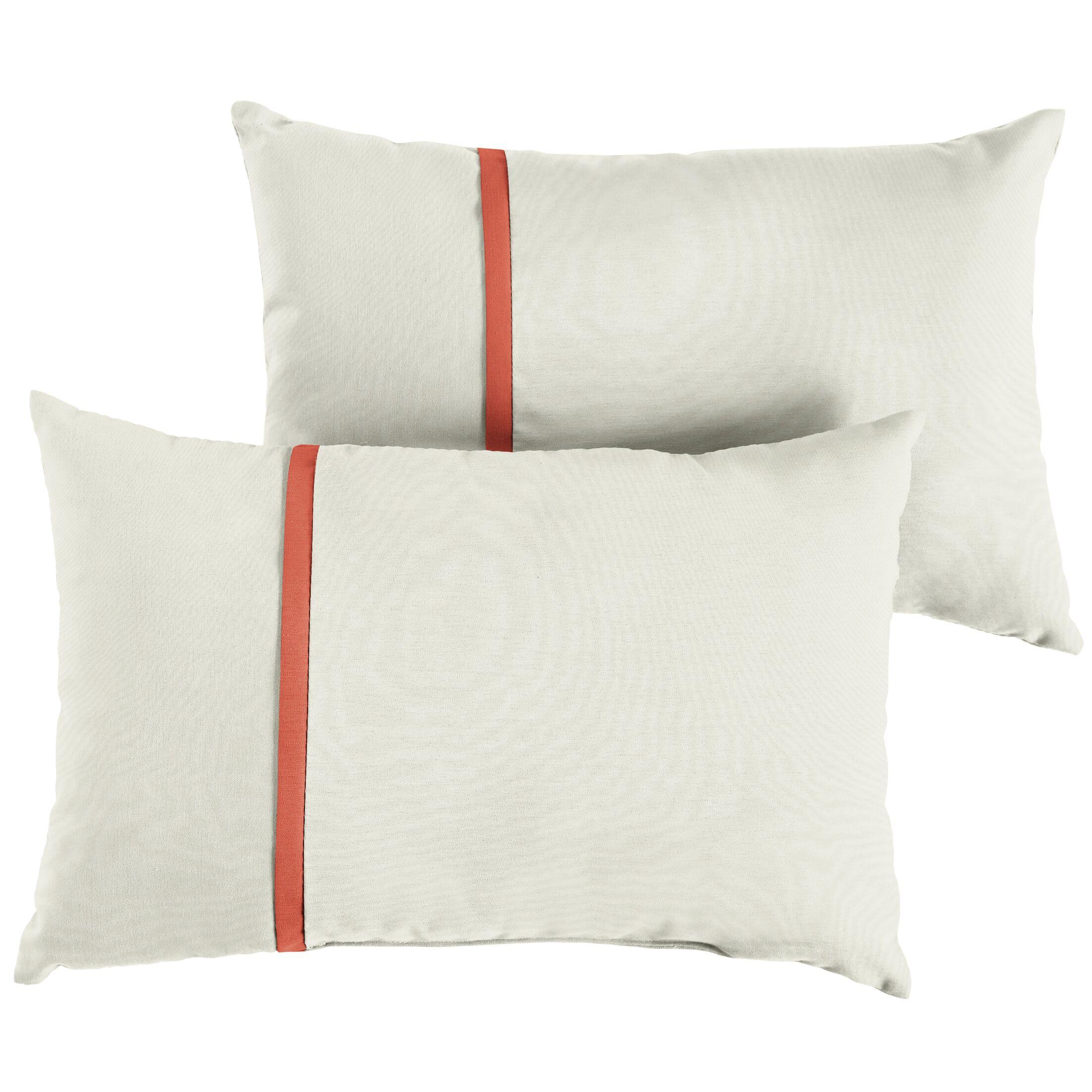 Flynt Indoor/Outdoor Sunbrella Lumbar Pillow Size: 13