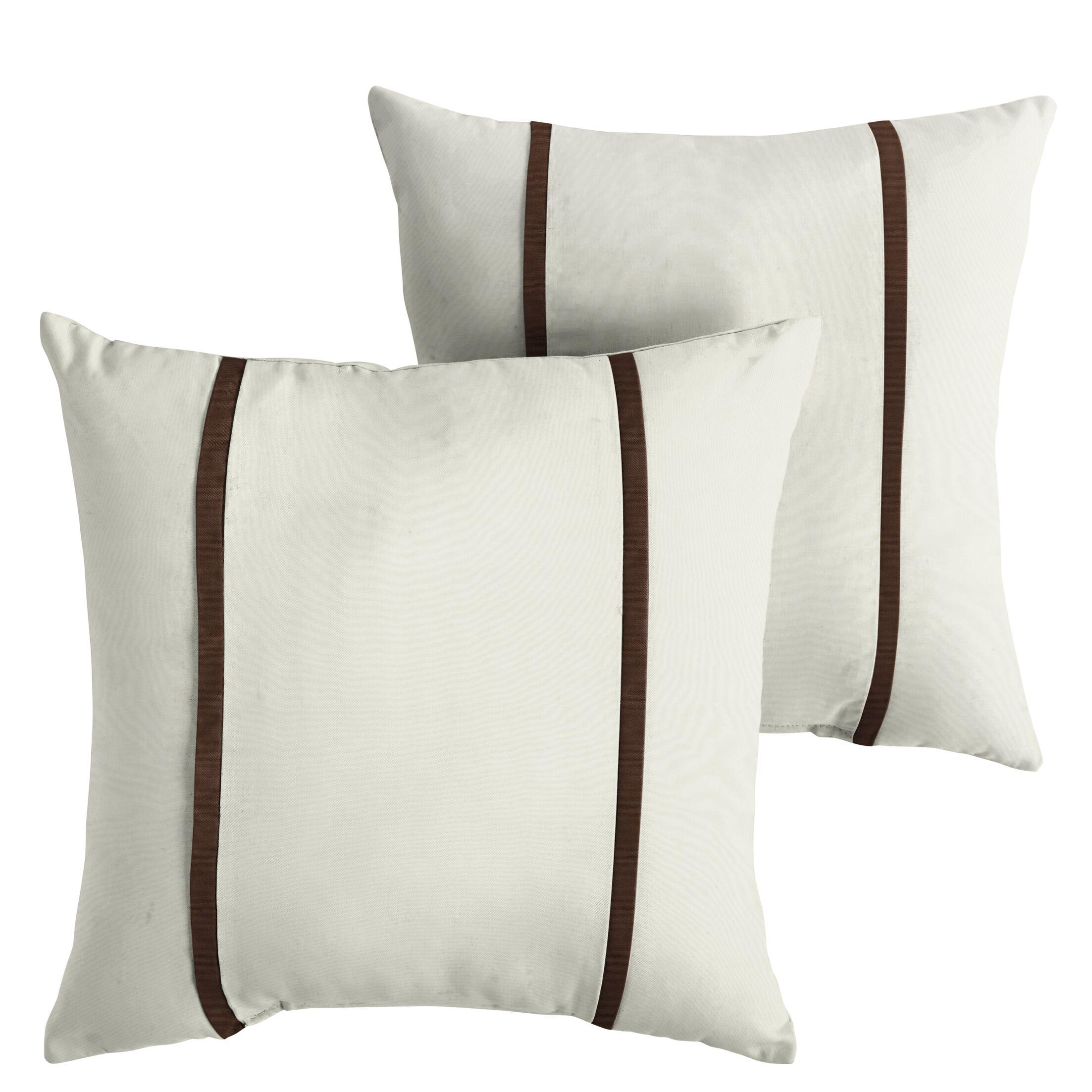 Hollaway Indoor/Outdoor Sunbrella Throw Pillow Size: 18