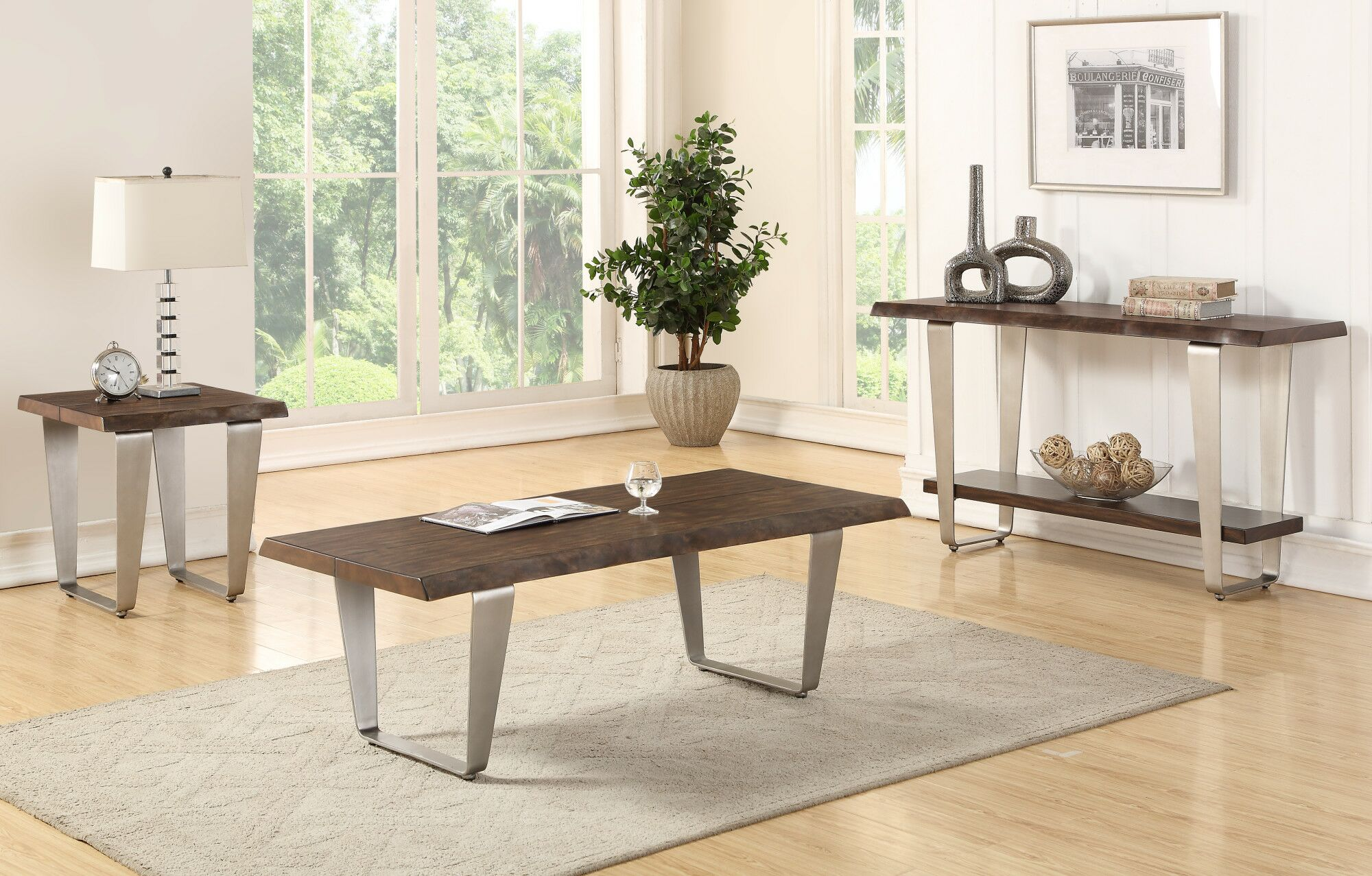 Gomez 3 Piece Coffee Table Set