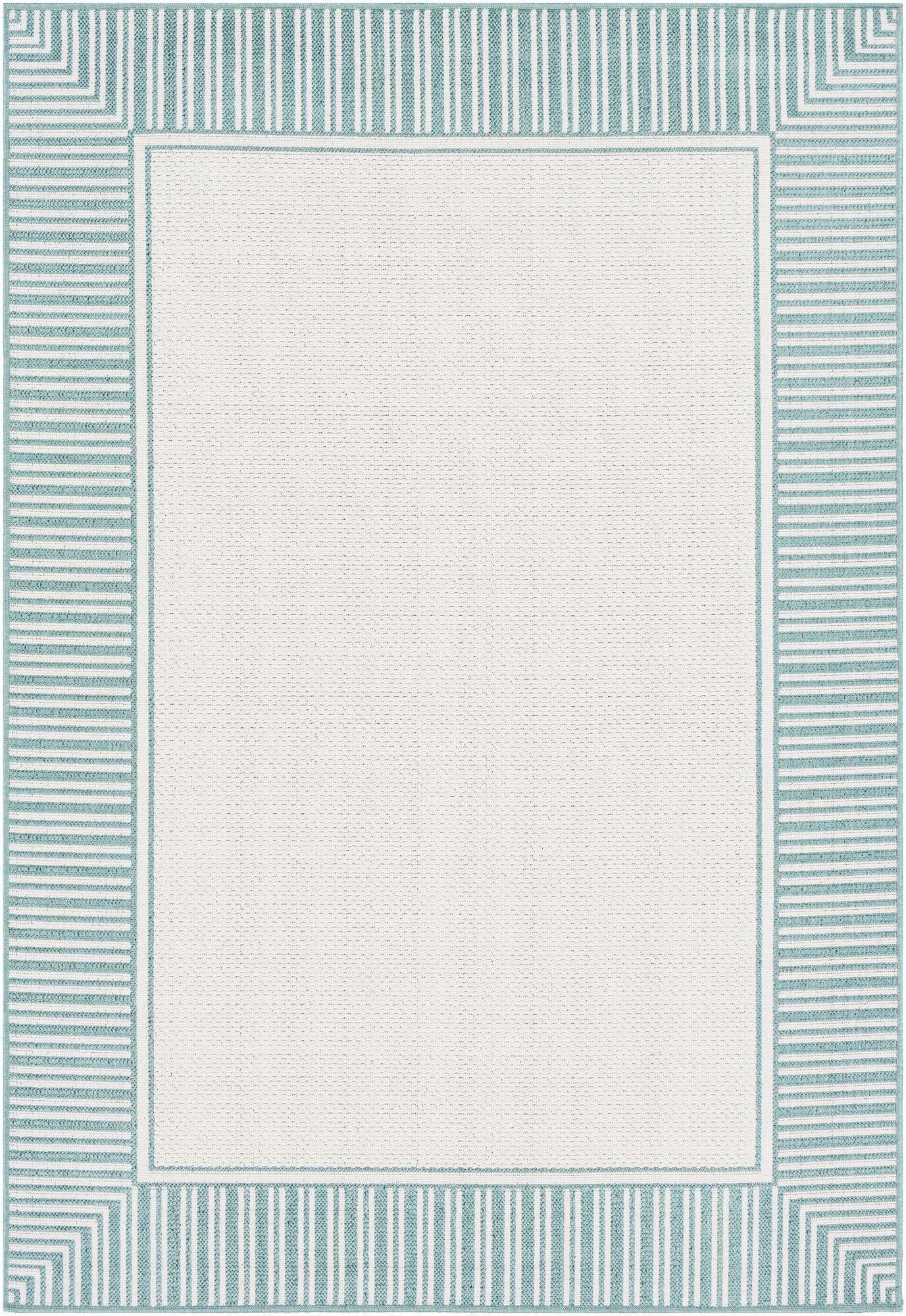 Oliver Teal Indoor/Outdoor Area Rug Rug Size: Rectangle 8'9