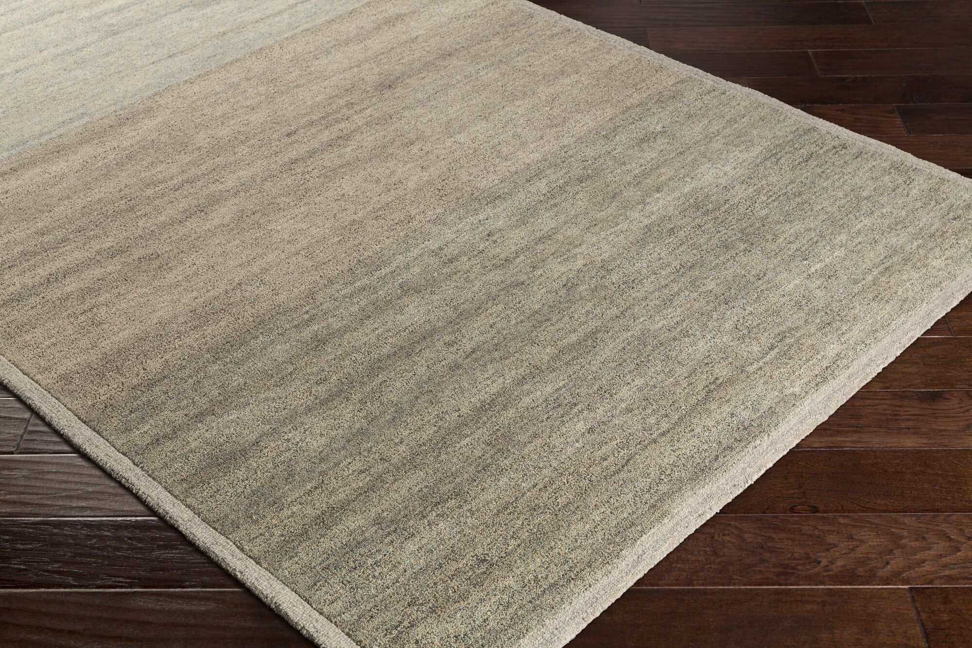Ciccone Hand-Tufted Wool Ivory/Taupe Area Rug Rug Size: Rectangle 8' x 10'