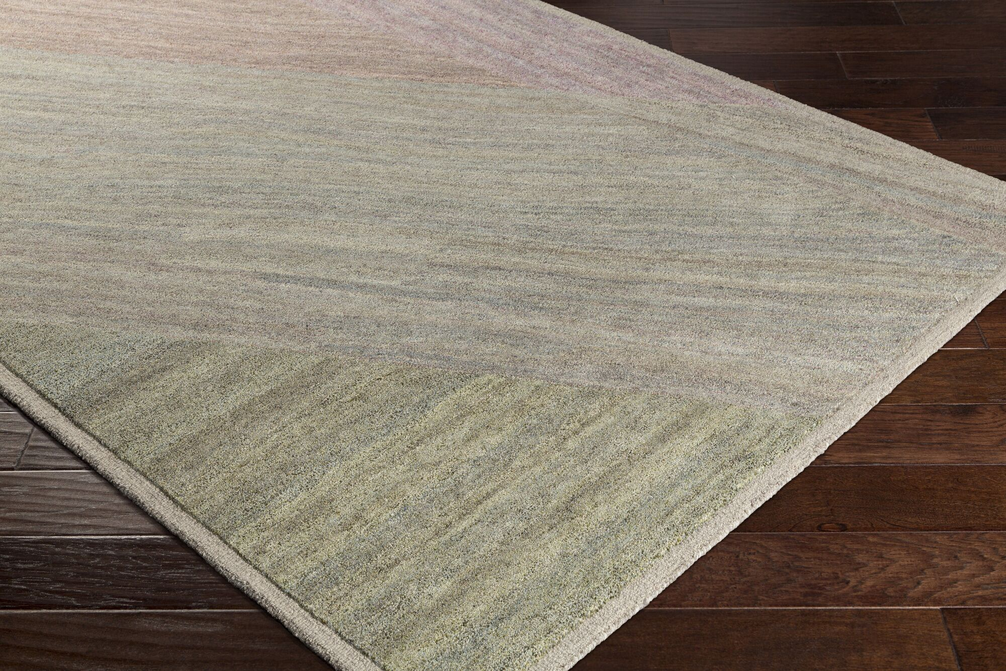 Ciccone Hand-Tufted Wool Ivory/Taupe Area Rug Rug Size: Rectangle 5' x 7'6