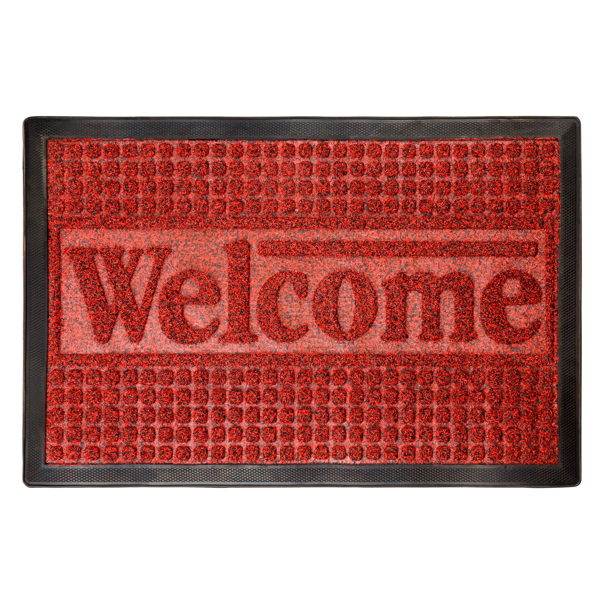 Melgoza Welcome Doormat Mat Size: Rectangle 15.5