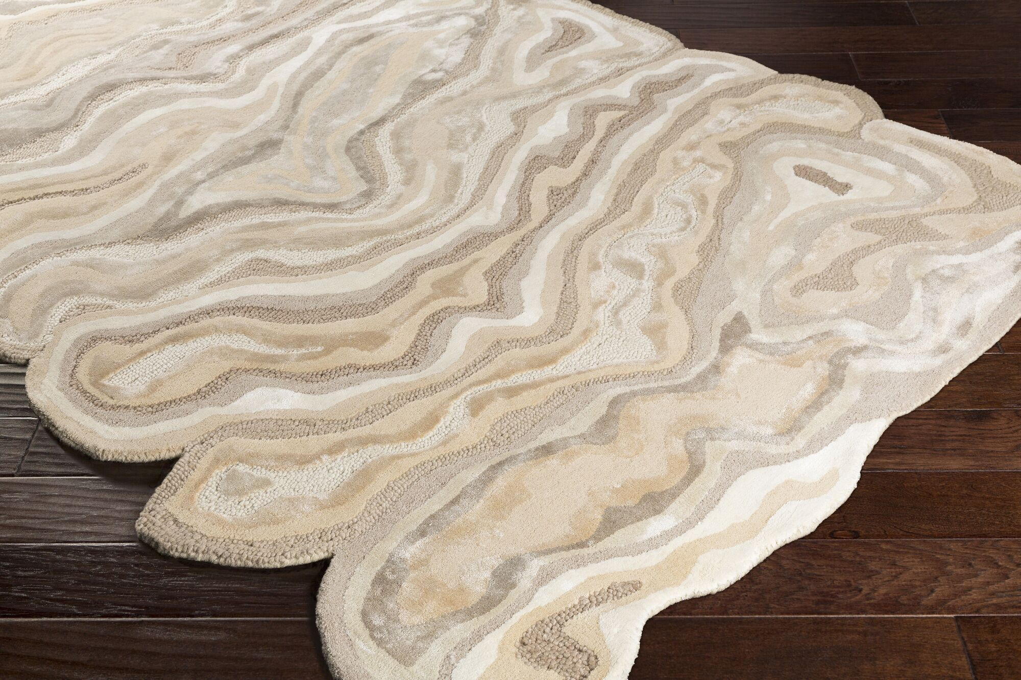 Ramsay Hand-Tufted Beige/Wheat Area Rug Rug Size: Rectangle 8' x 11'