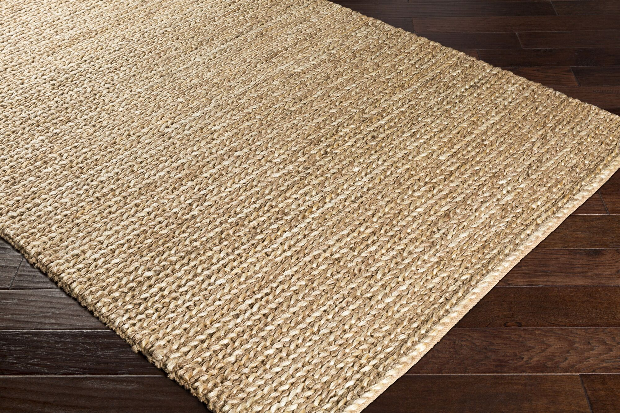 Blythen Hand-Woven Tan/Butter Area Rug Rug Size: Rectangle 8' x 10'