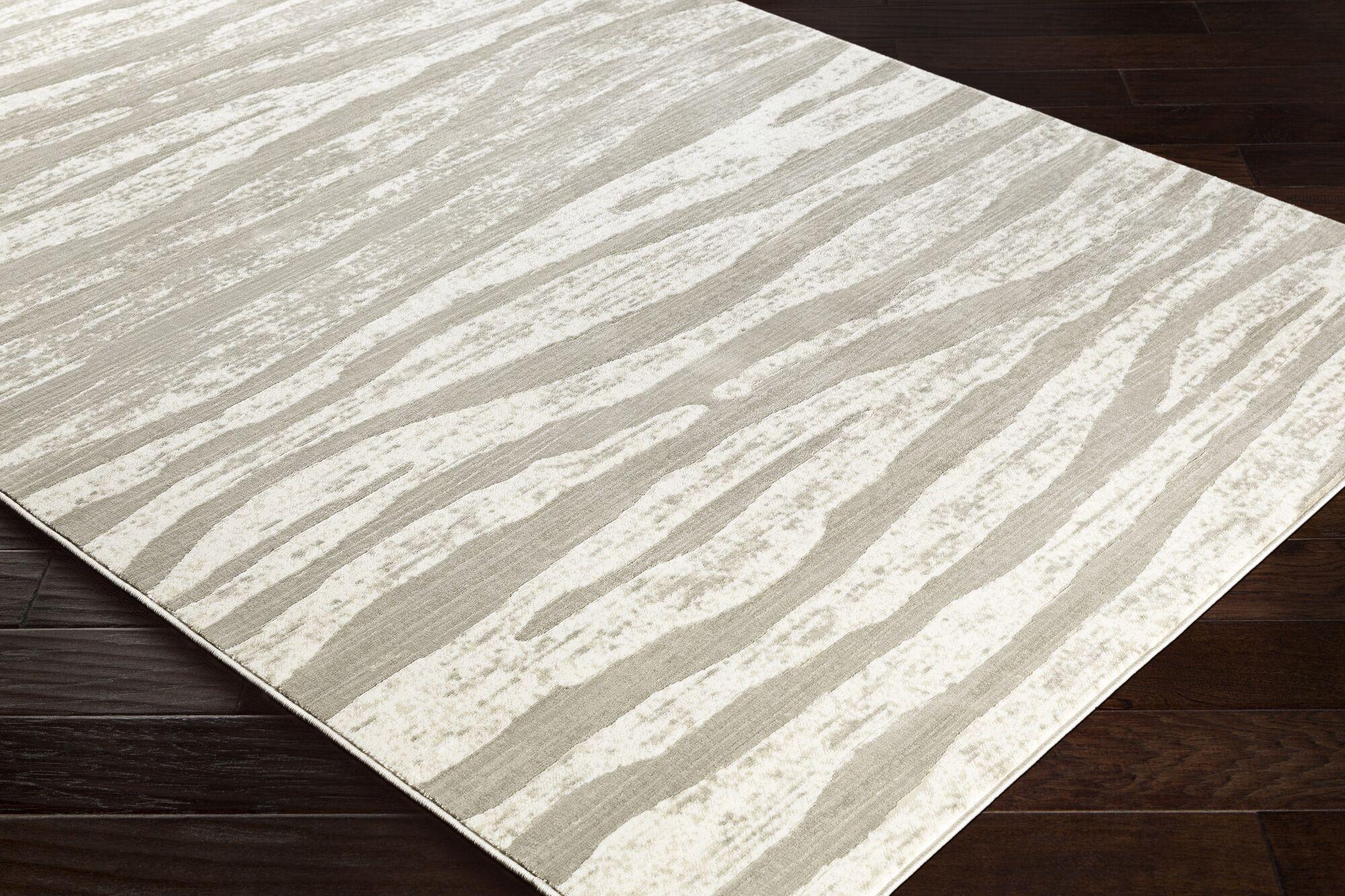 Nagel Light Gray/Taupe Area Rug Rug Size: Rectangle 5'2