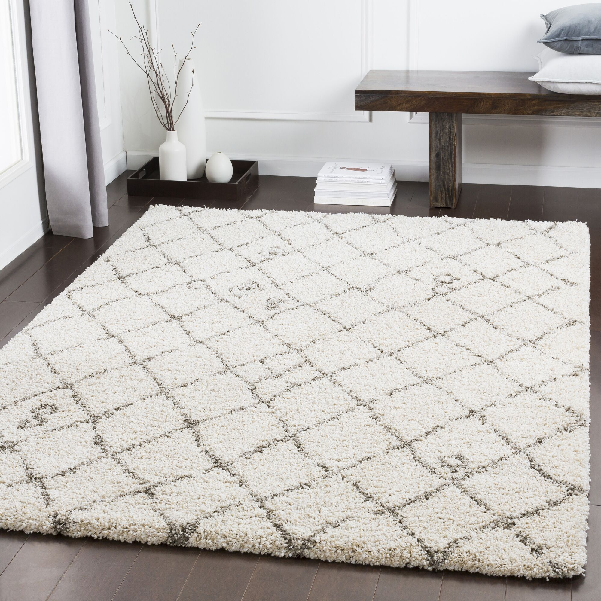 Dileo Trellis Taupe Area Rug Rug Size: Rectangle 7'10