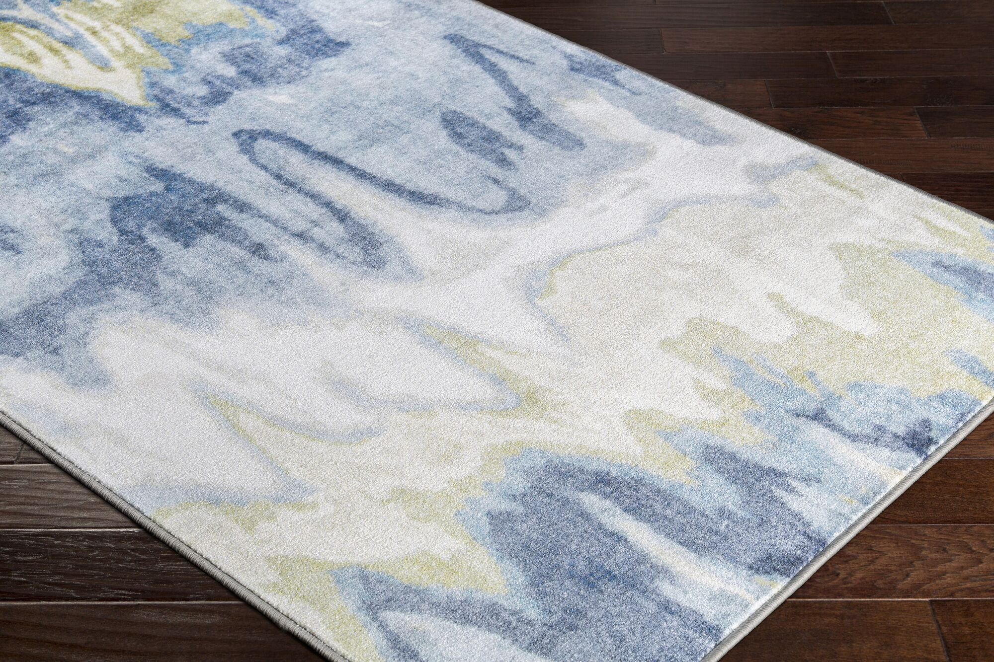 Dilbeck Abstract Olive/White Area Rug Rug Size: Rectangle 7'10