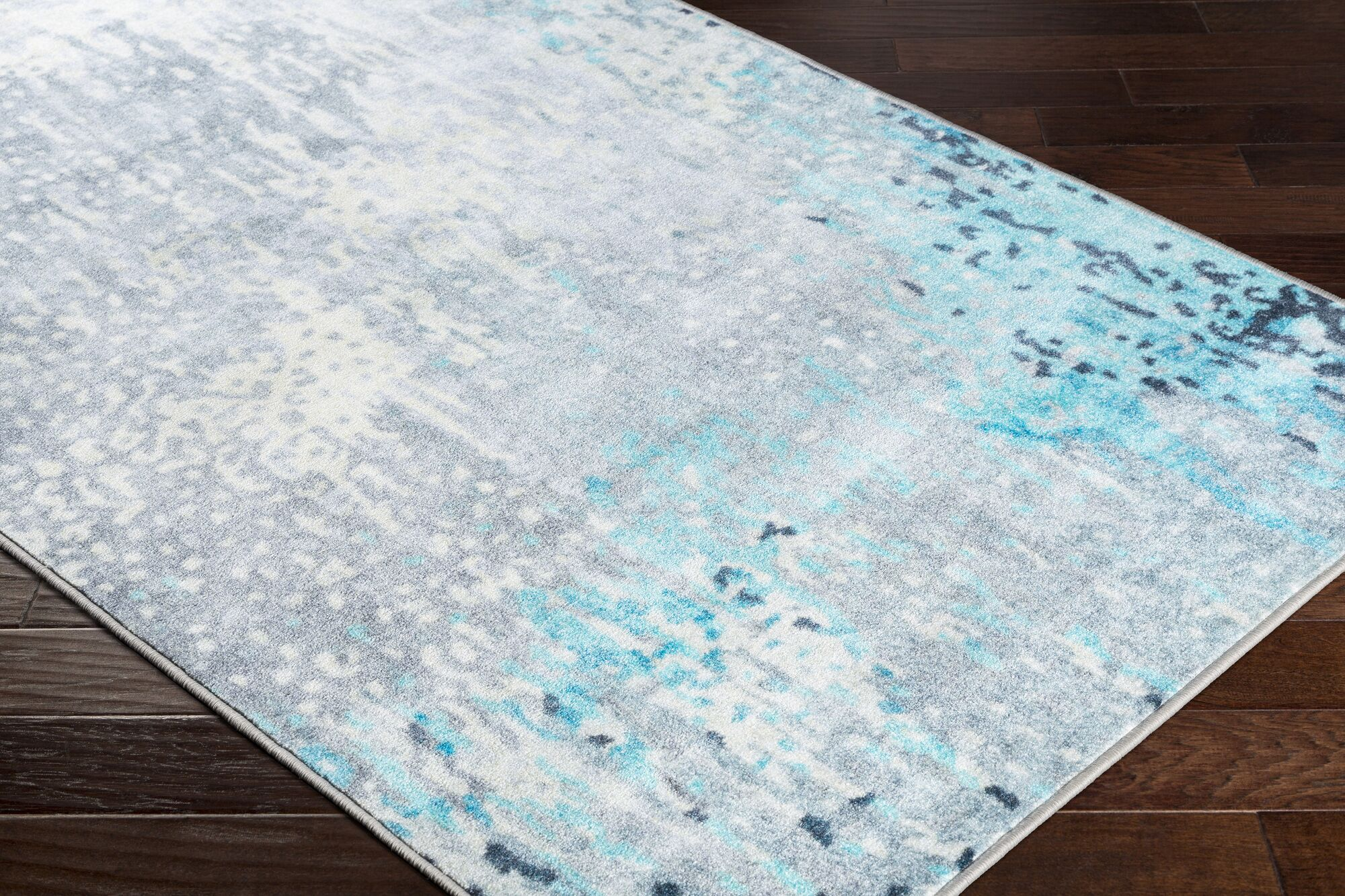 Dilbeck Abstract Gray Area Rug Rug Size: Rectangle 5'3