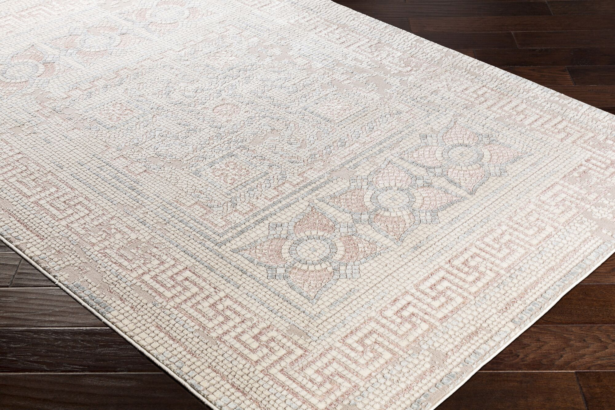 Nakasi Distressed Camel/Beige Area Rug Rug Size: Rectangle 6'7