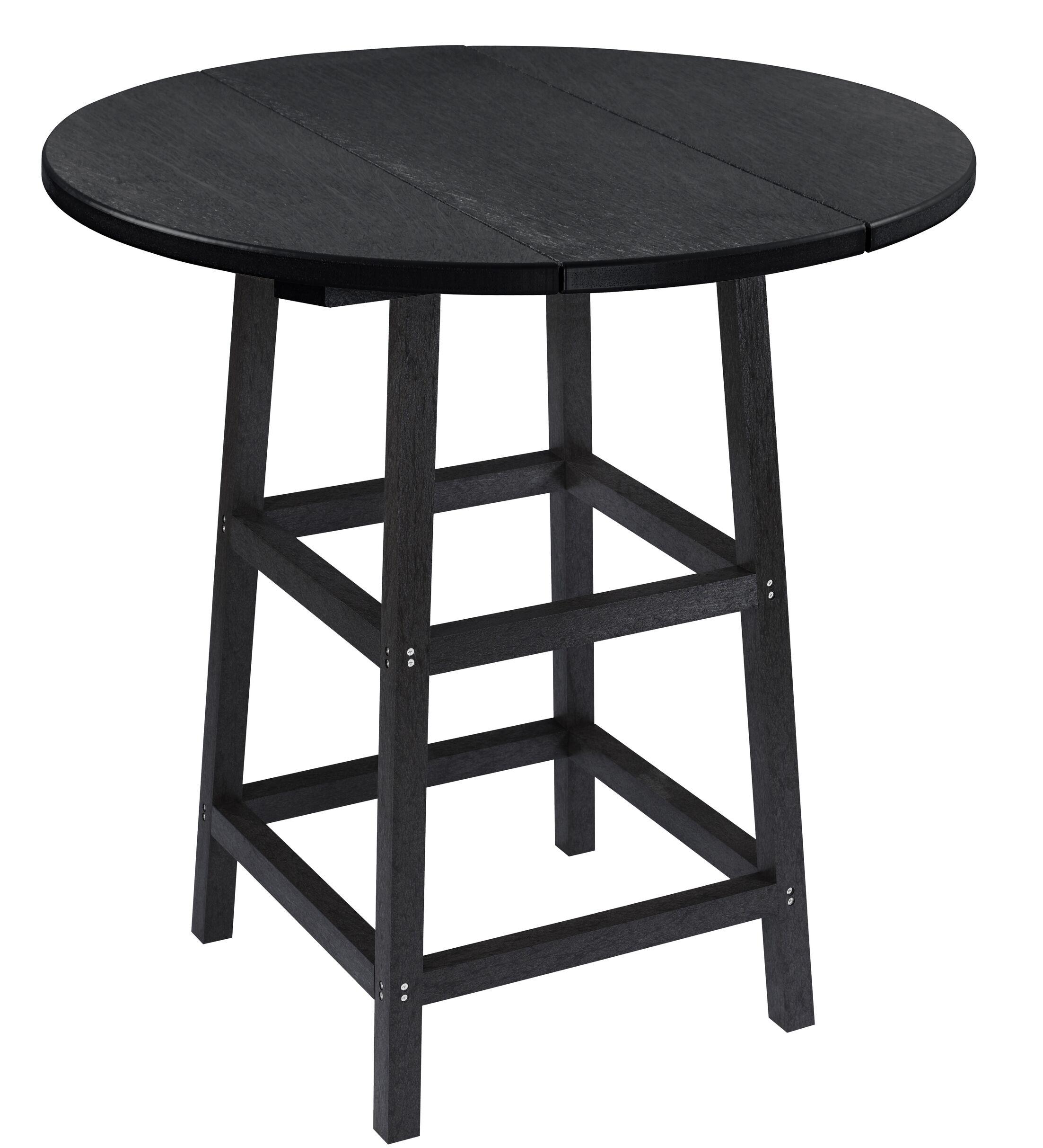 Kratochvil Plastic Bistro Table Color: Black, Table Size: 40