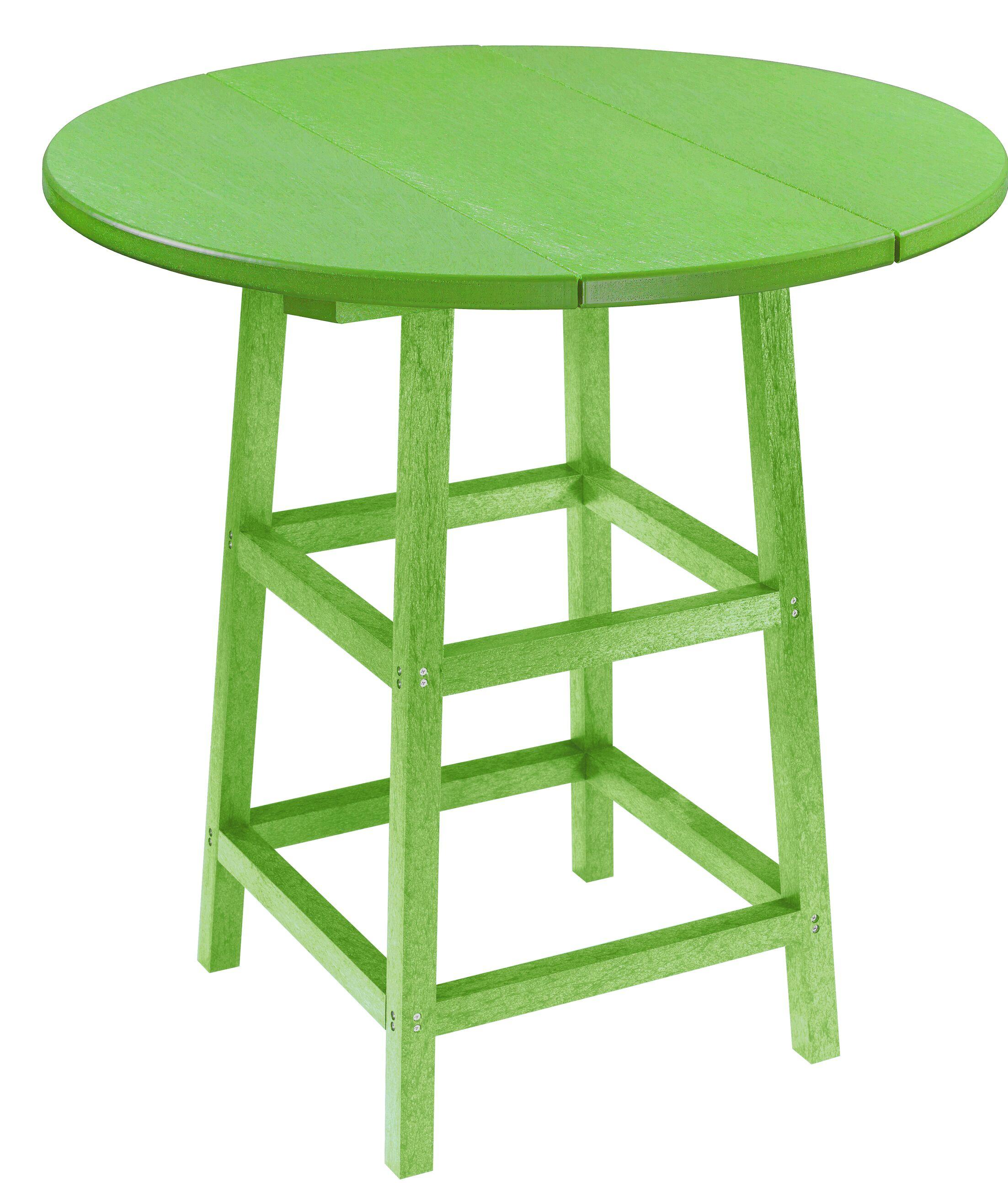 Kratochvil Plastic Bistro Table Color: Kiwi Green, Table Size: 40