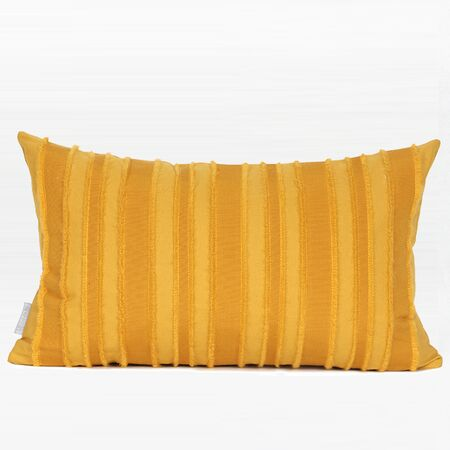 Elysee Tassel Stripe Textured Pillow Fill Material: Down Feather, Product Type: Throw Pillow