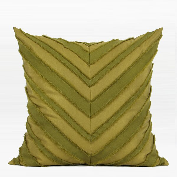 Elwes Tassel V Stripe Textured Pillow Fill Material: Down Feather, Product Type: Throw Pillow
