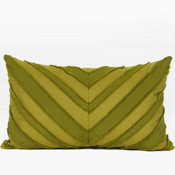 Elwyn Tassel V Stripe Textured Pillow Fill Material: Down Feather, Product Type: Throw Pillow