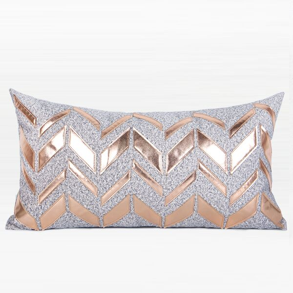 Trinh Faux Leather Chevron Pattern Pillow Fill Material: Down Feather, Product Type: Throw Pillow