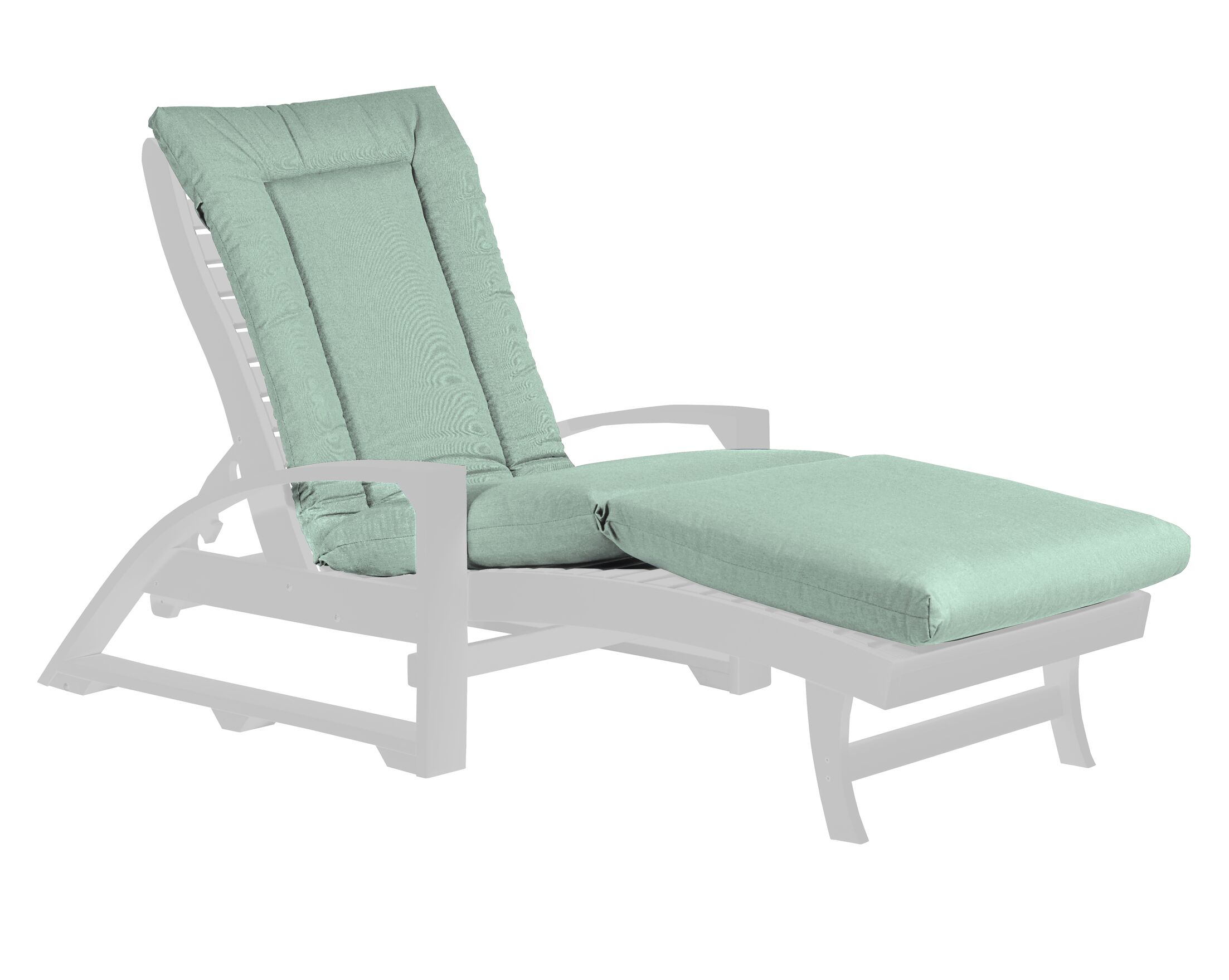 Indoor/Outdoor Sunbrella Chaise Lounge Cushion Fabric: Canvas Spa