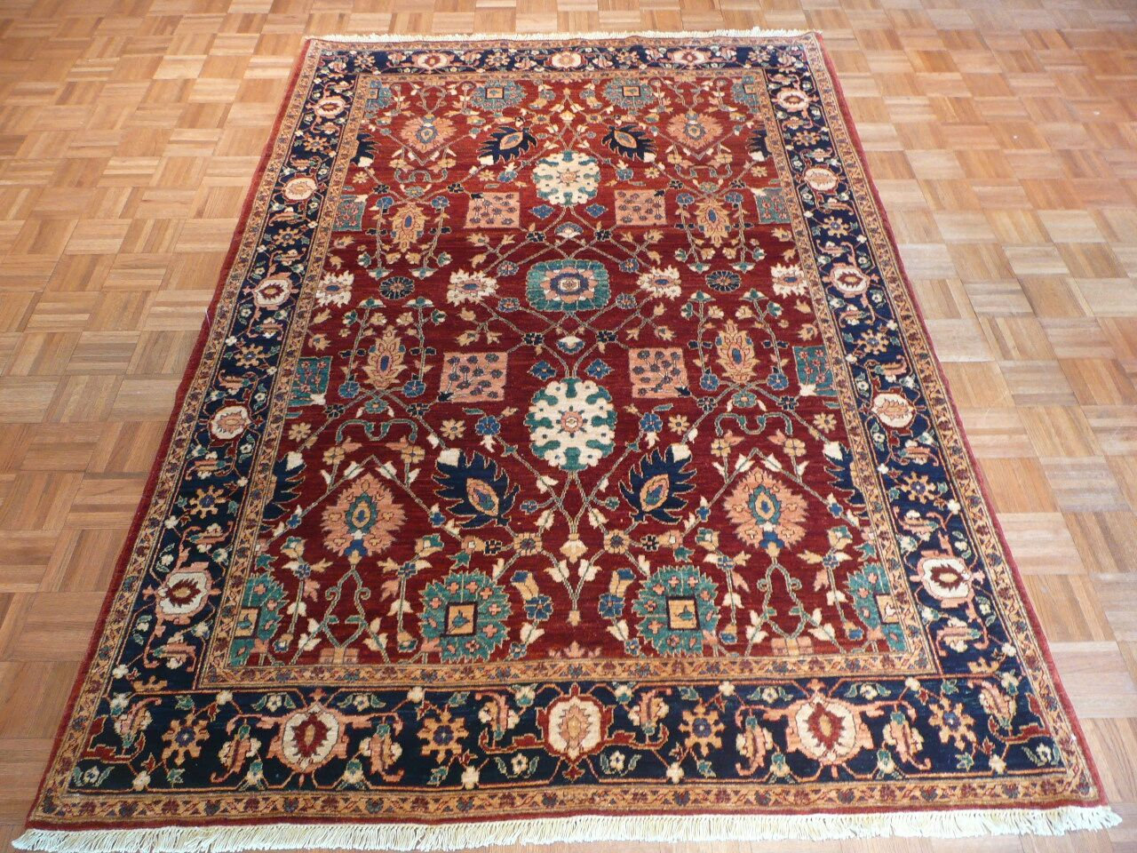 One-of-a-Kind Josephson Hand-Knotted Wool Rust Area Rug