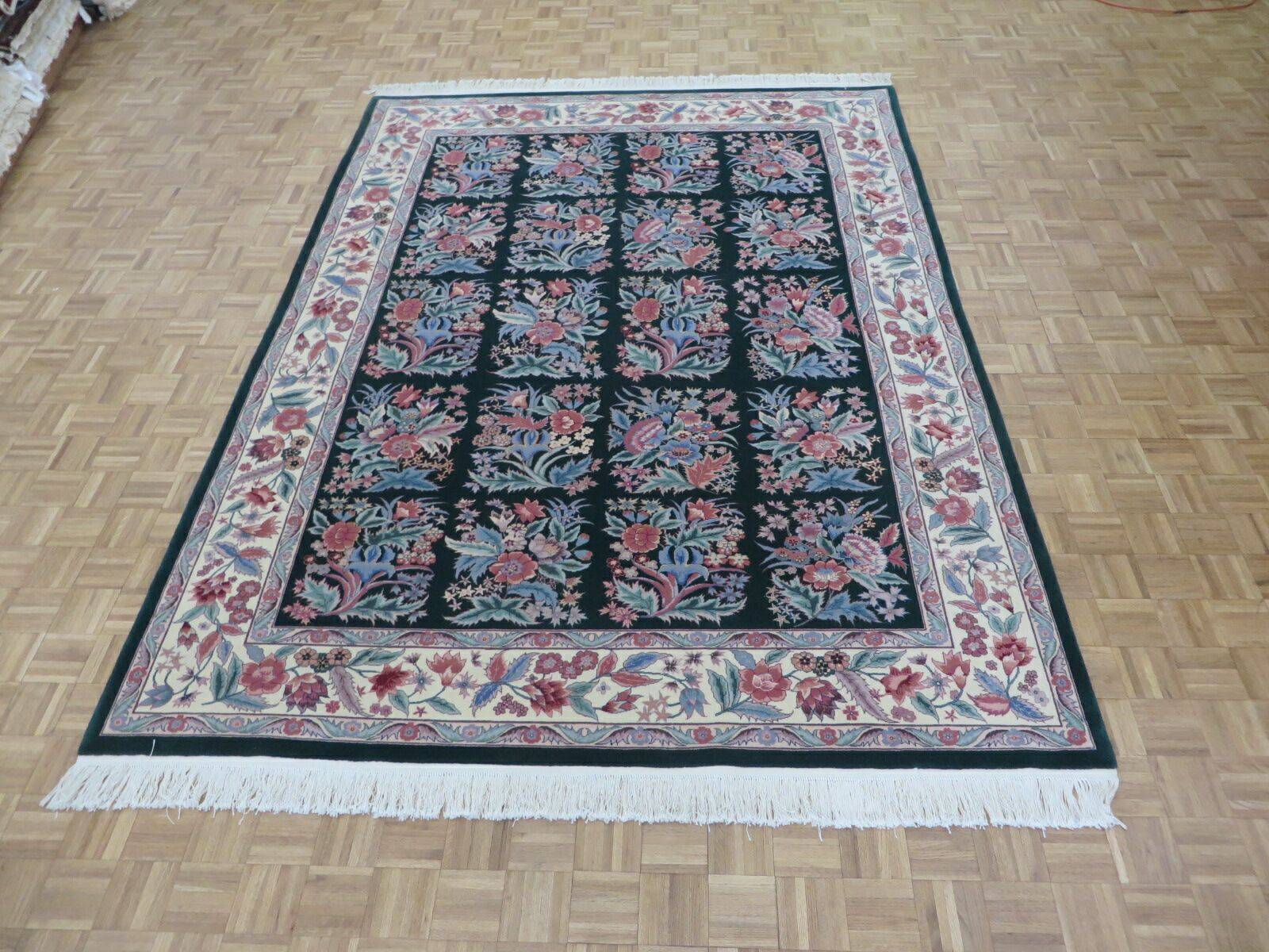 One-of-a-Kind Elbridge Hand-Knotted Wool Green Area Rug