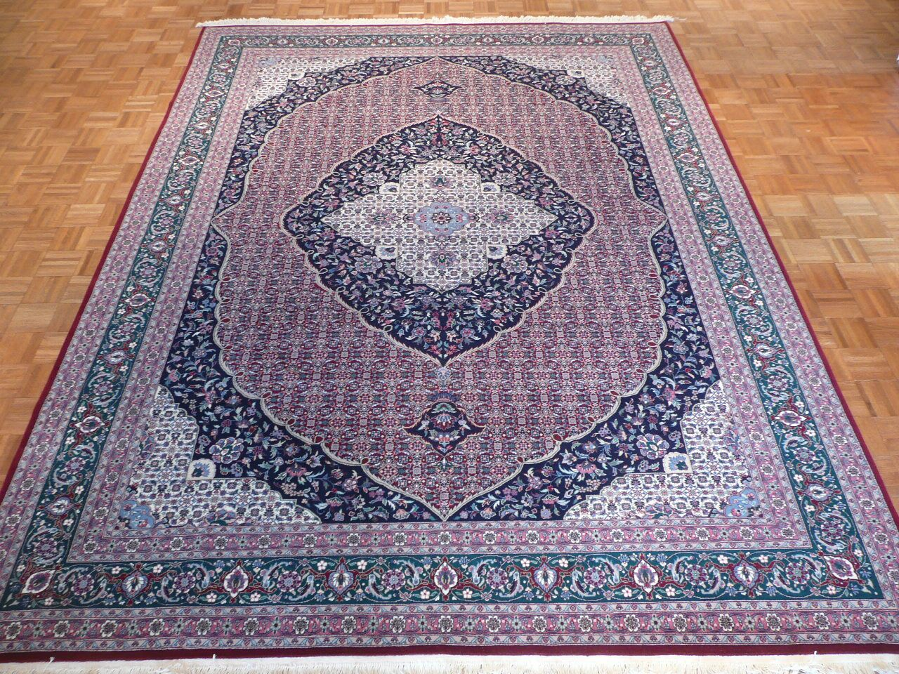 One-of-a-Kind Pellegrino Bijar Hand-Knotted Wool Red Area Rug