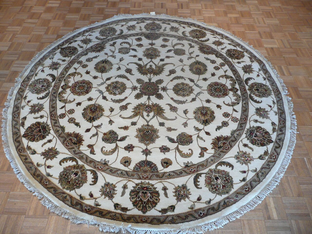 One-of-a-Kind Rhyne Hand-Knotted Wool Ivory Area Rug