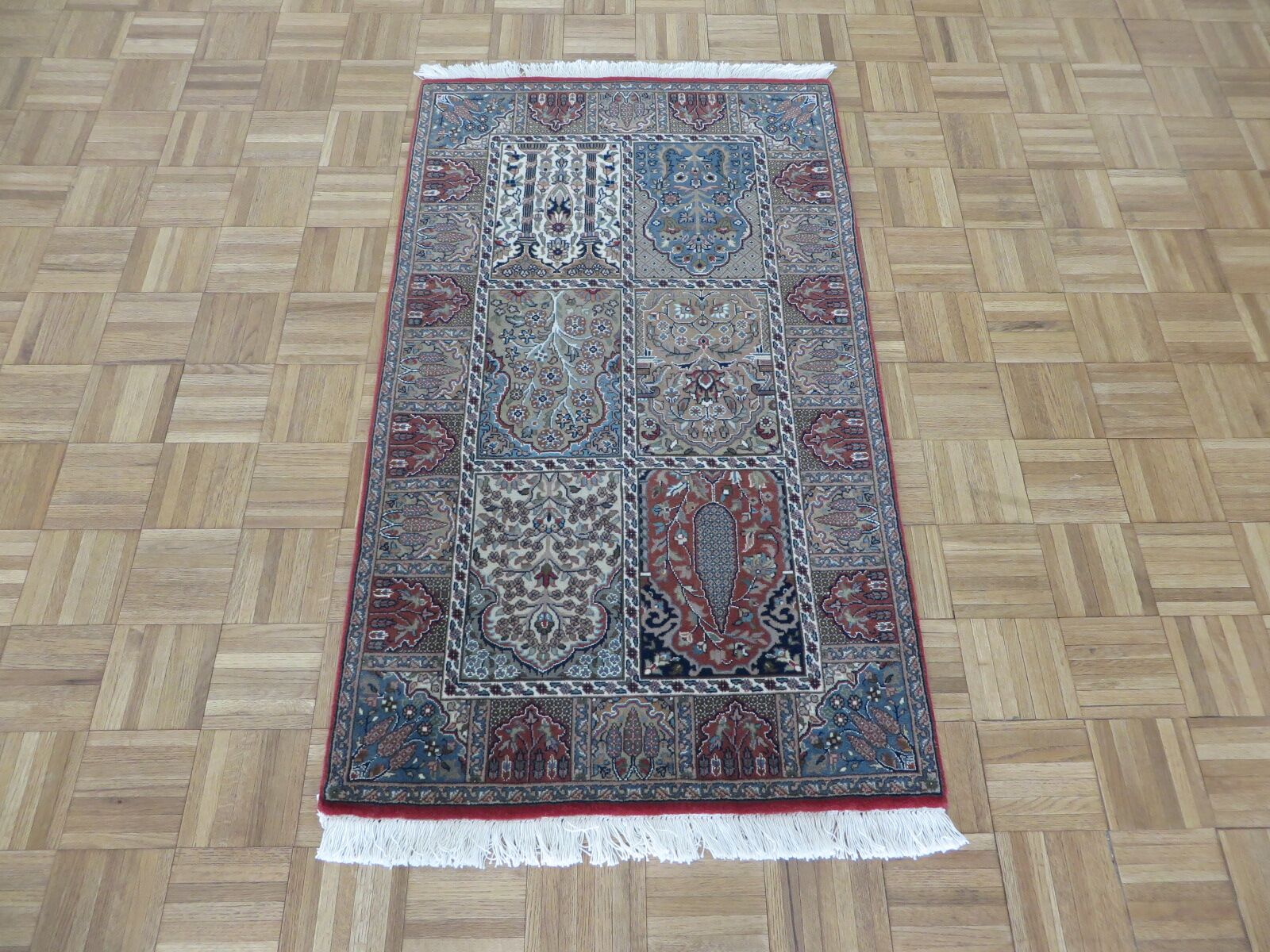 Area Rugs One Of A Kind Rakowski Hand Knotted Wool Red Gray Area Rug