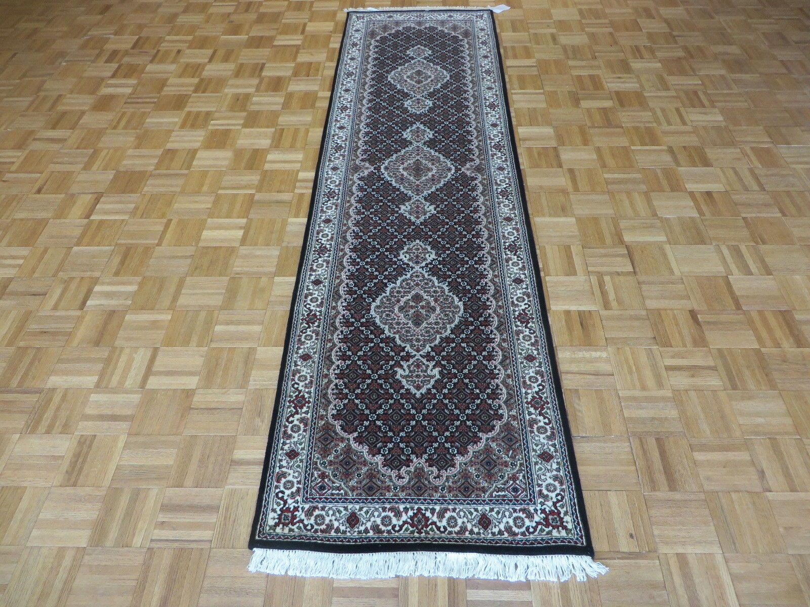 One-of-a-Kind Raiden Persian Hand-Knotted Wool Black Area Rug