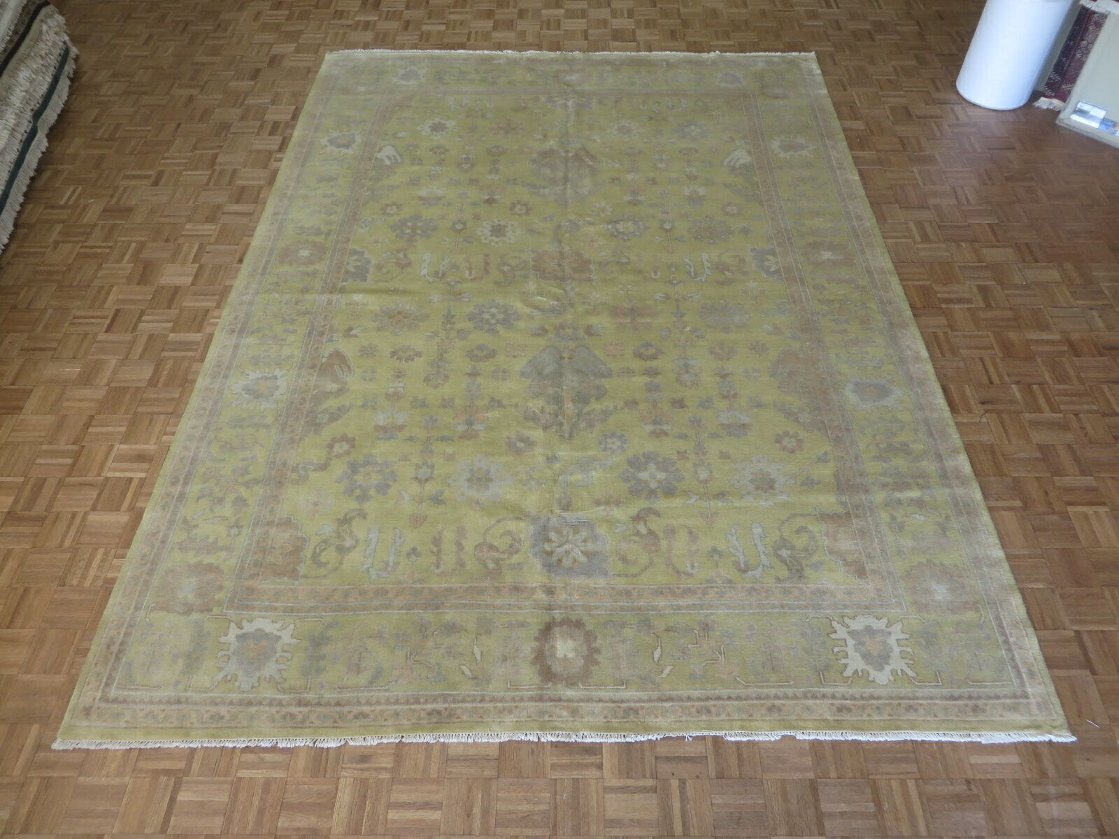 One-of-a-Kind Josephson Oushak Hand-Knotted Gold/White Area Rug