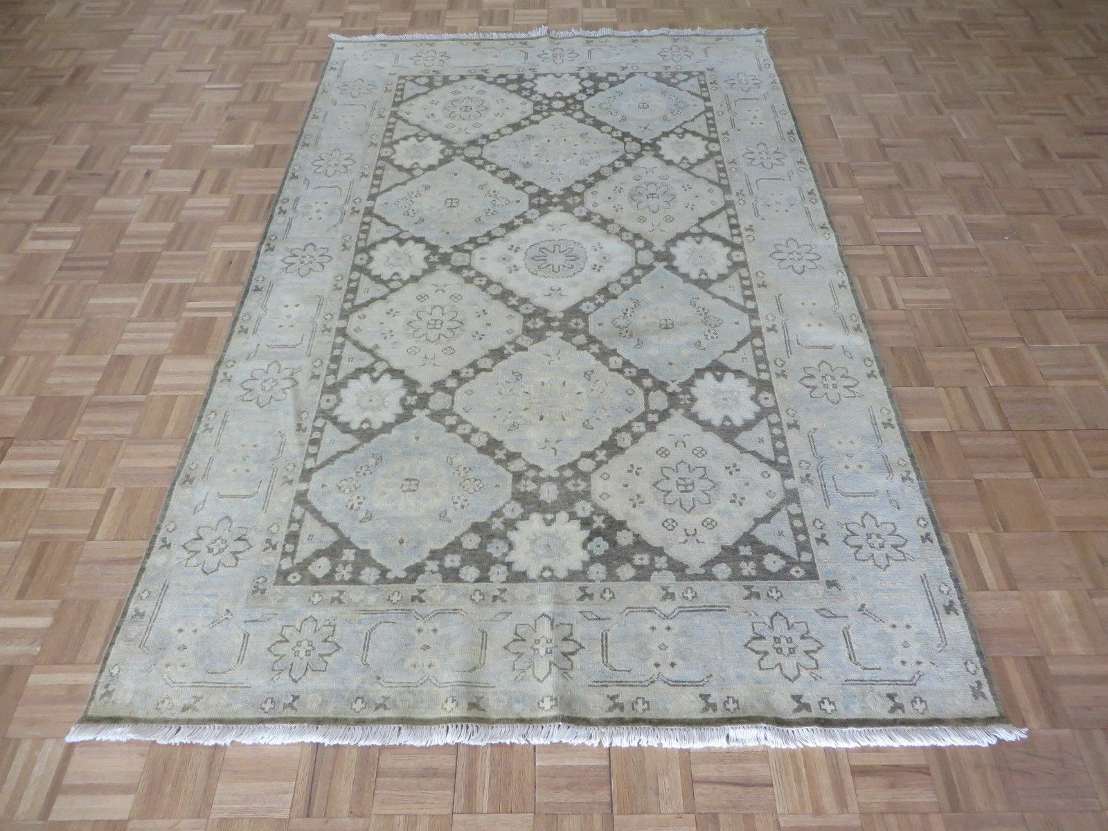 One-of-a-Kind Josephson Turkish Oushak Hand-Knotted Wool Brown Area Rug