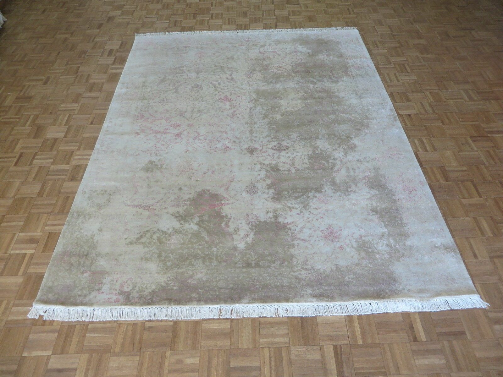 One-of-a-Kind Josephson Modern Abstract Hand-Knotted Wool Beige Area Rug Rug Size: Rectangle 10' x 14'2